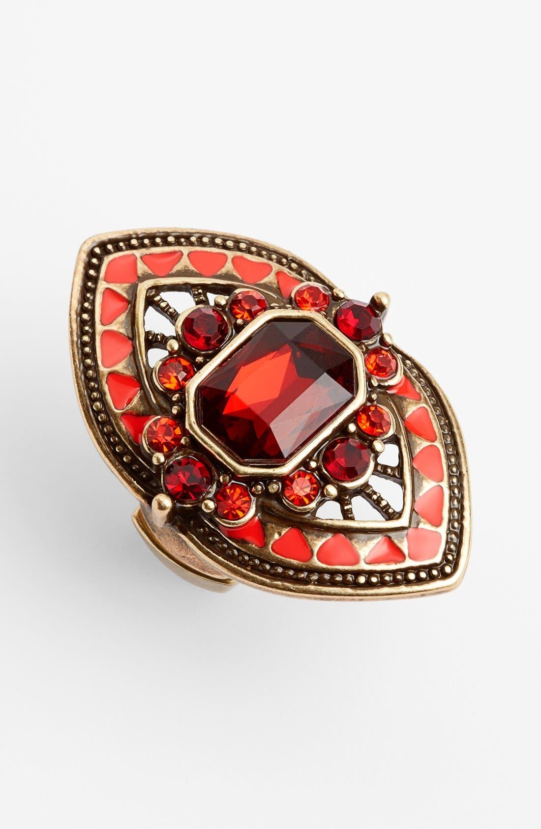 Alternate Image 1 Selected - Spring Street Crystal Shield Ring
