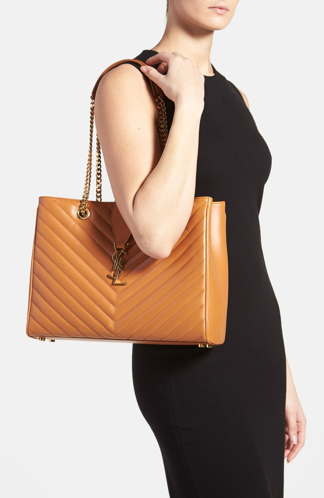 Alternate Image 2  - Saint Laurent 'Cassandre' Leather Shopper