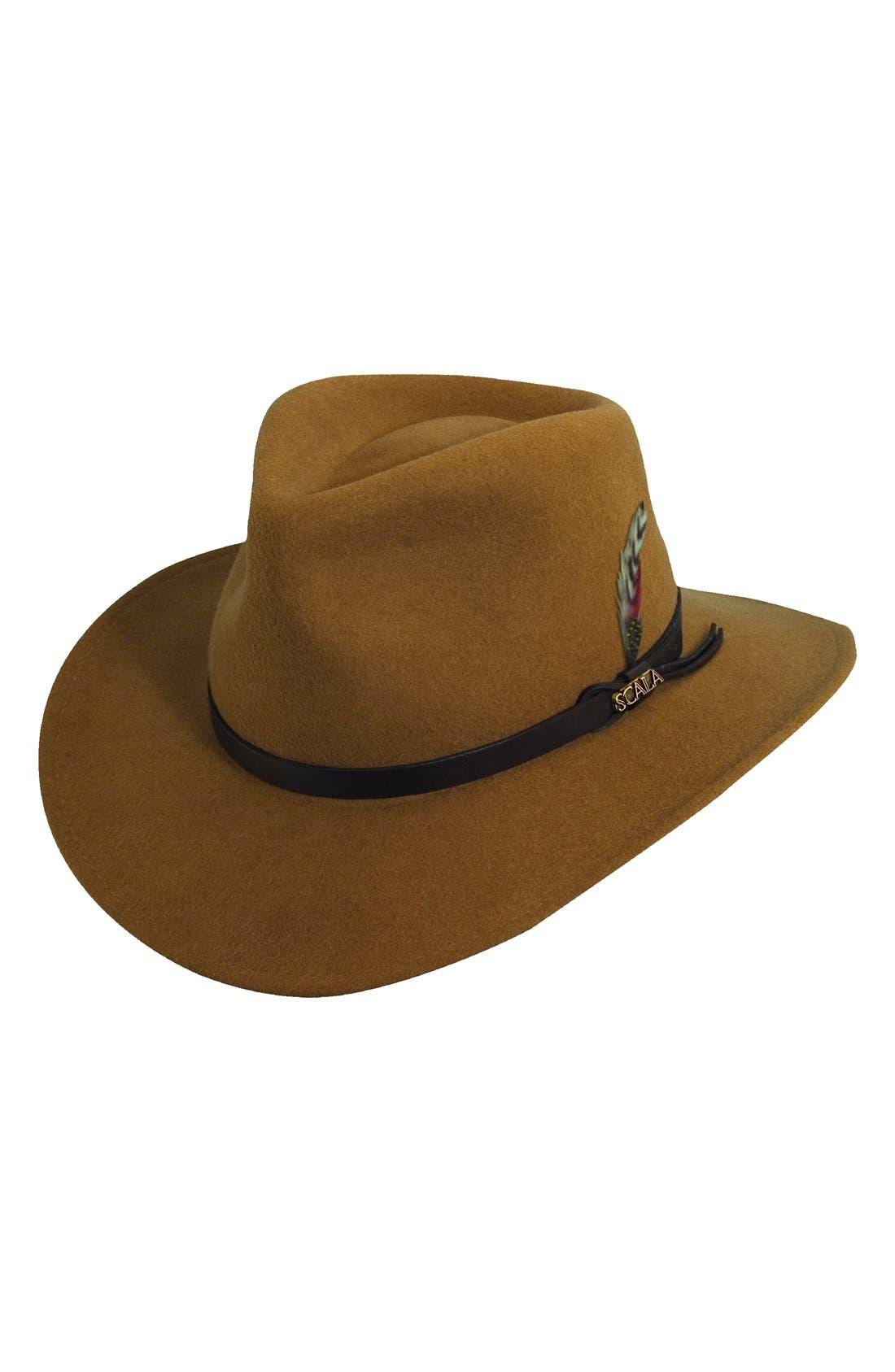 Scala 'Classico' Crushable Felt Outback Hat