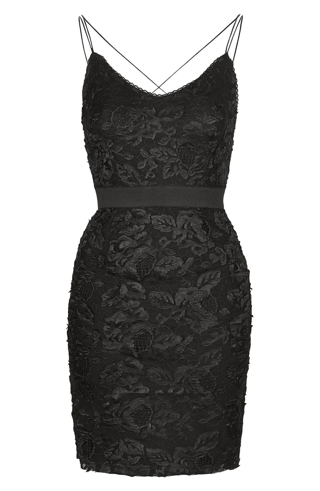 Alternate Image 3  - Topshop Strappy Lace Dress