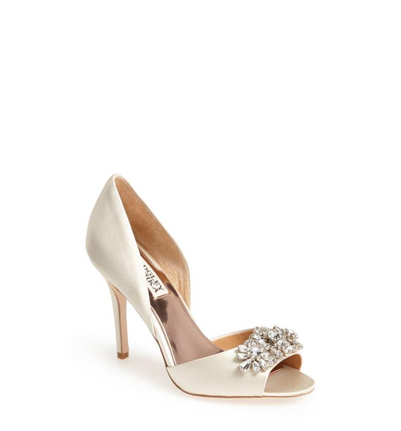 Bridal Shoes At Nordstrom: Badgley Mischka 'Giana' Satin D'Orsay Pump (Women)