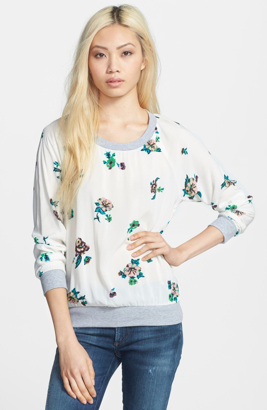 Main Image - Splendid 'Ashbury Blooms' Print Pullover