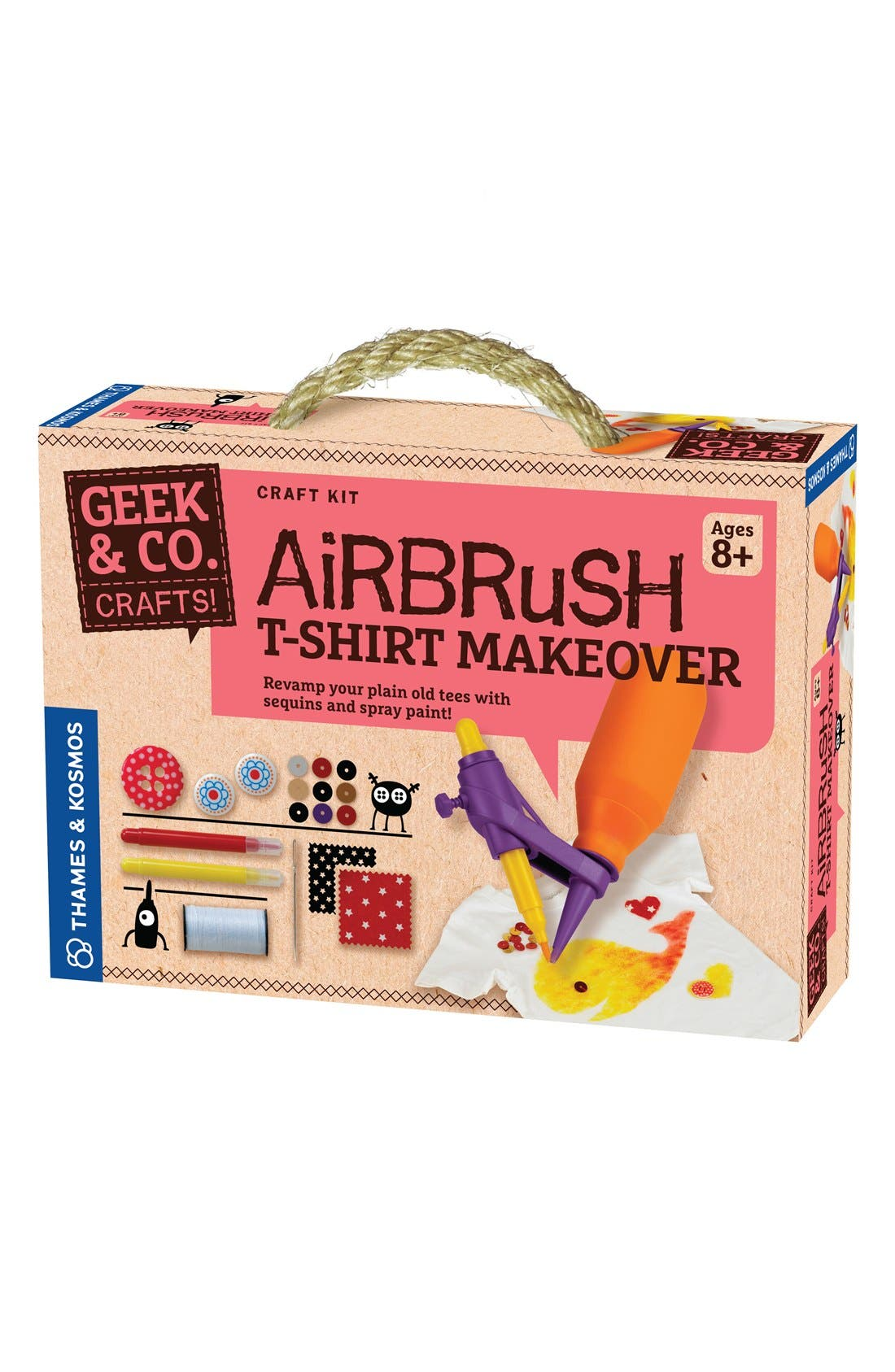 THAMES & KOSMOS 'Airbrush T-Shirt Makeover' Kit