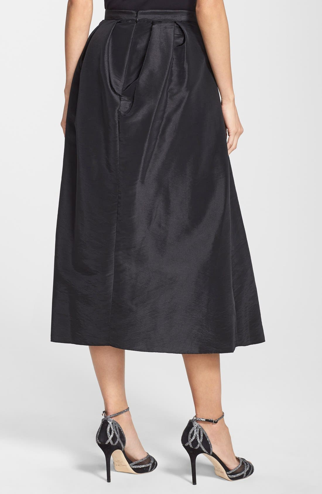 Alternate Image 2  - Marina Pleated Taffeta Midi Skirt