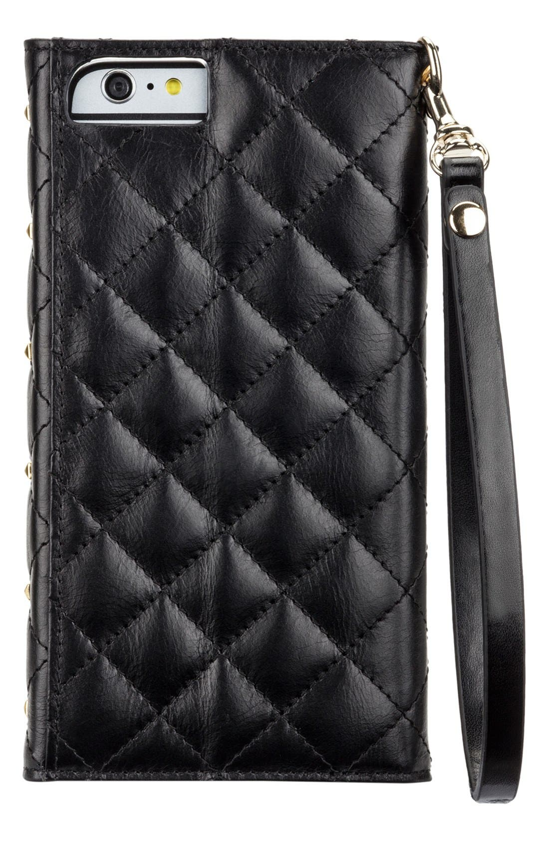 Alternate Image 4  - Rebecca Minkoff x Case-Mate iPhone 6 Plus Quilted Wristlet