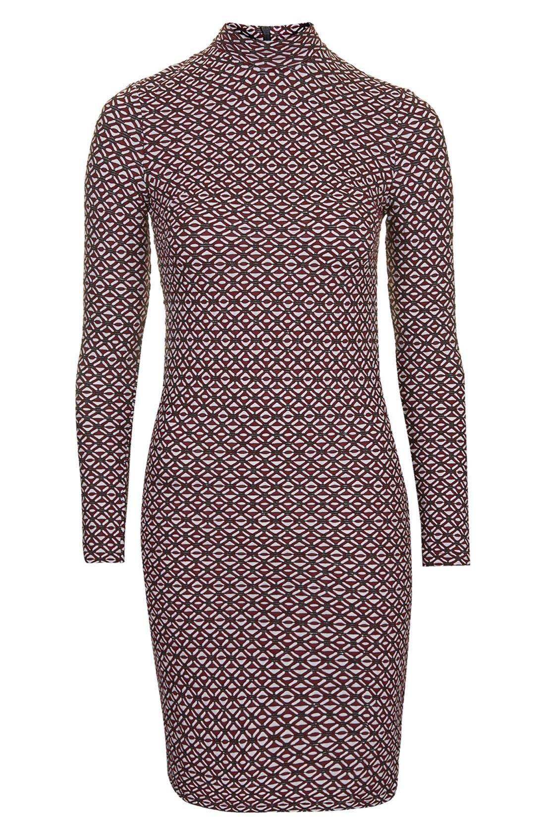 Alternate Image 3  - Topshop Mock Neck Body-Con Dress (Regular & Petite)