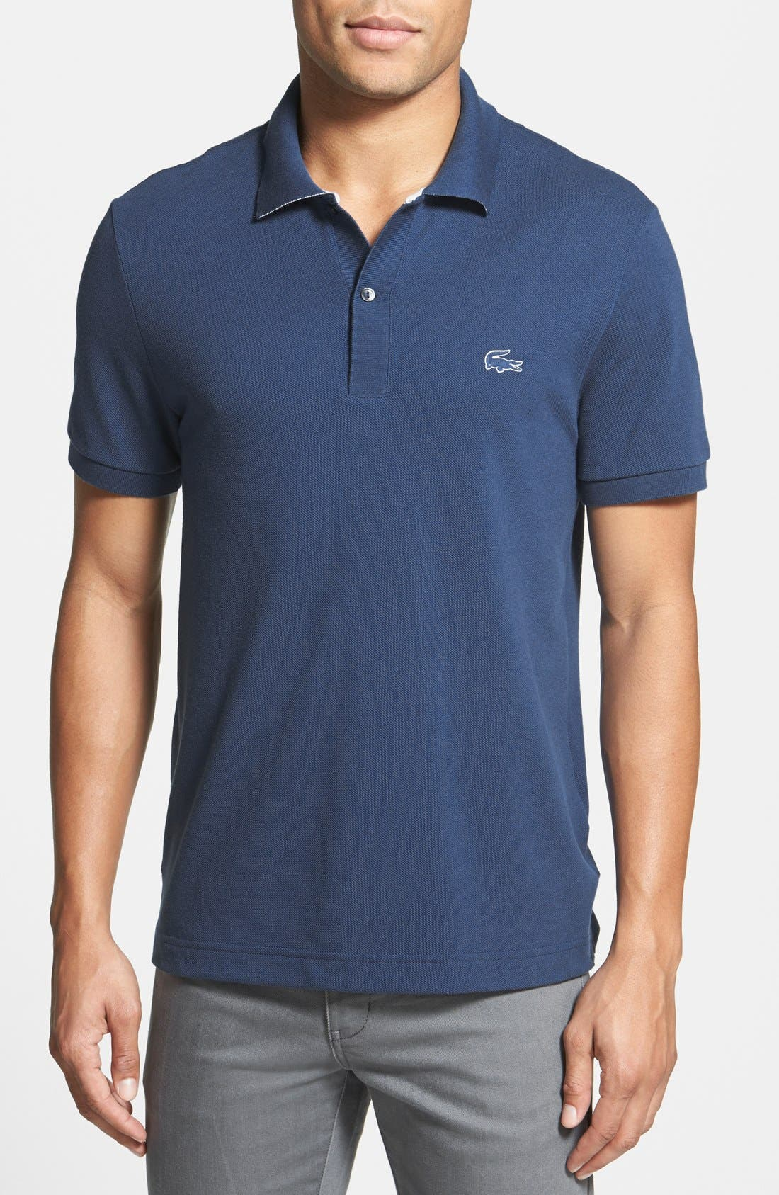 Alternate Image 1 Selected - Lacoste Piqué Polo with Rubber Logo