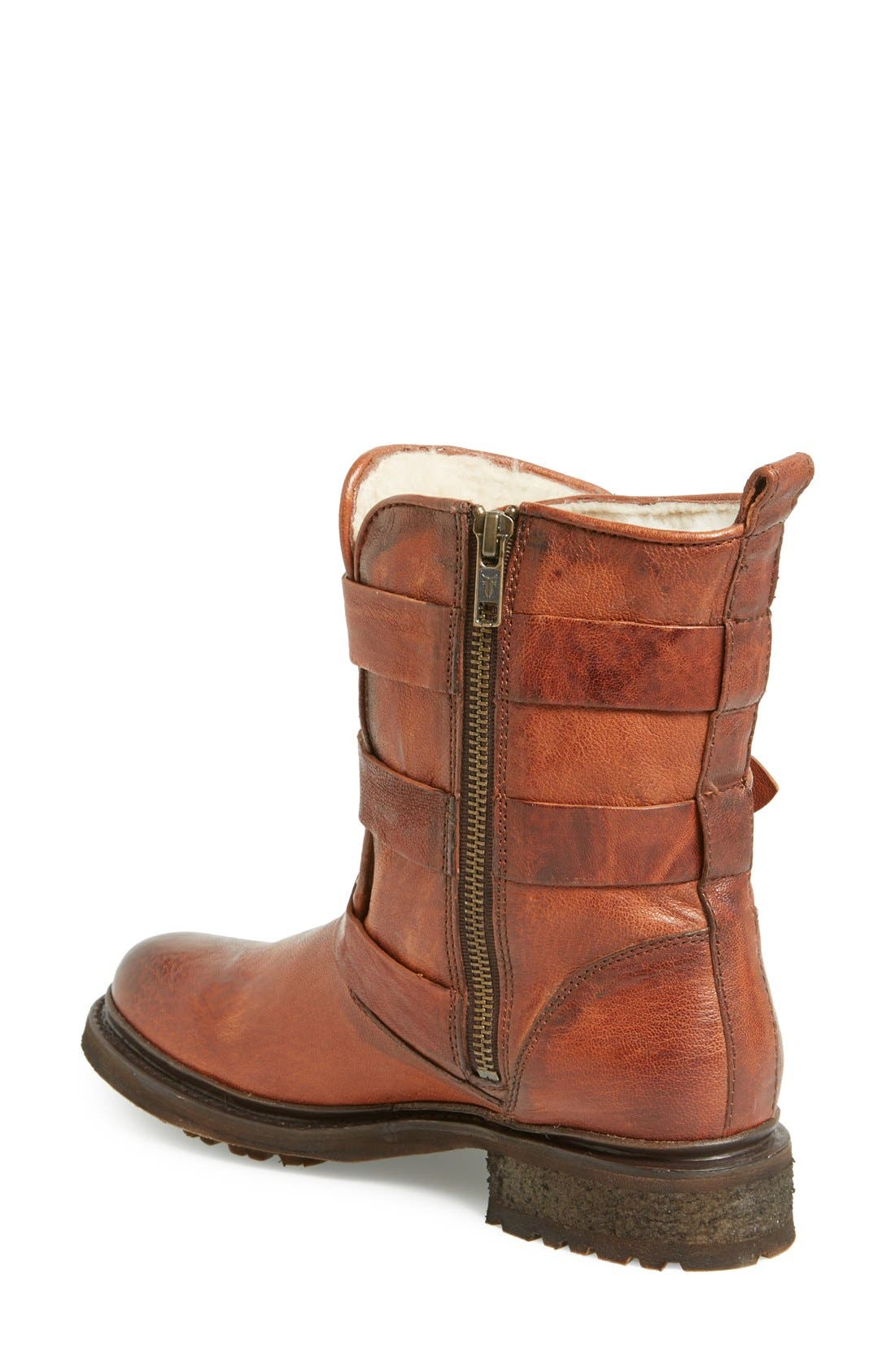 Alternate Image 2  - Frye 'Valerie' Shearling Lined Strappy Boot (Women)