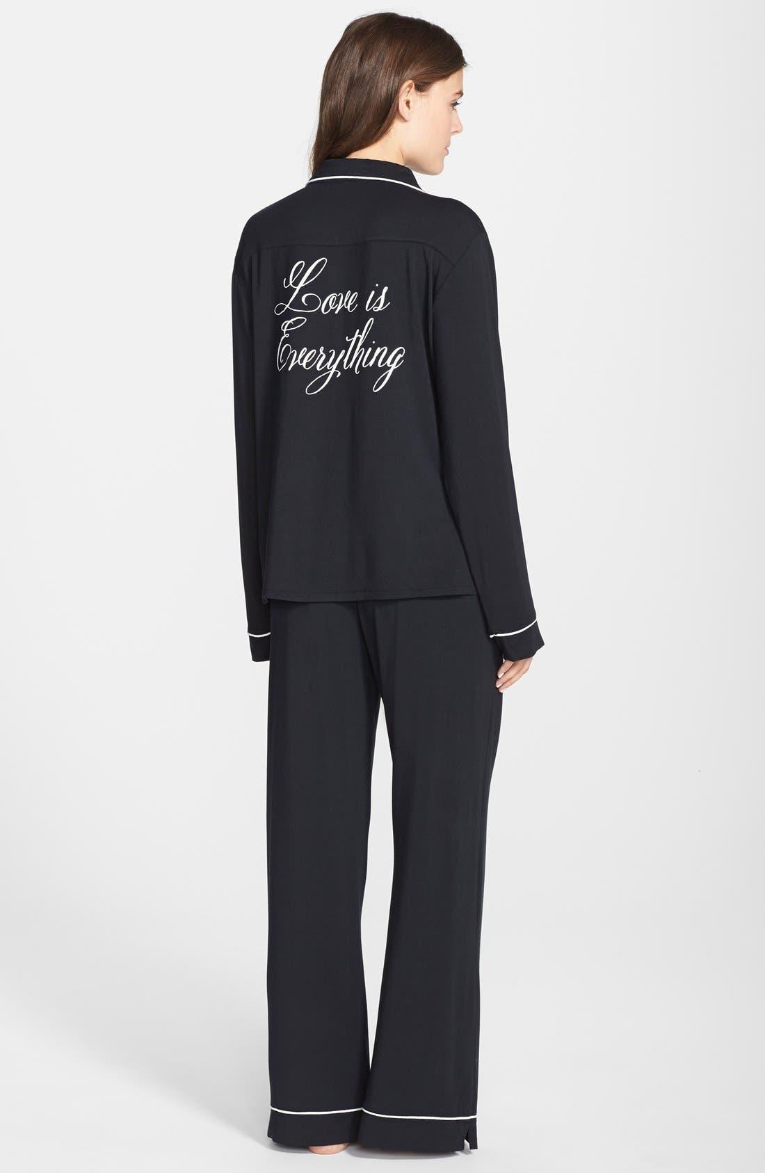 Alternate Image 2  - Wildfox 'Love Is Everything' Jersey Pajamas