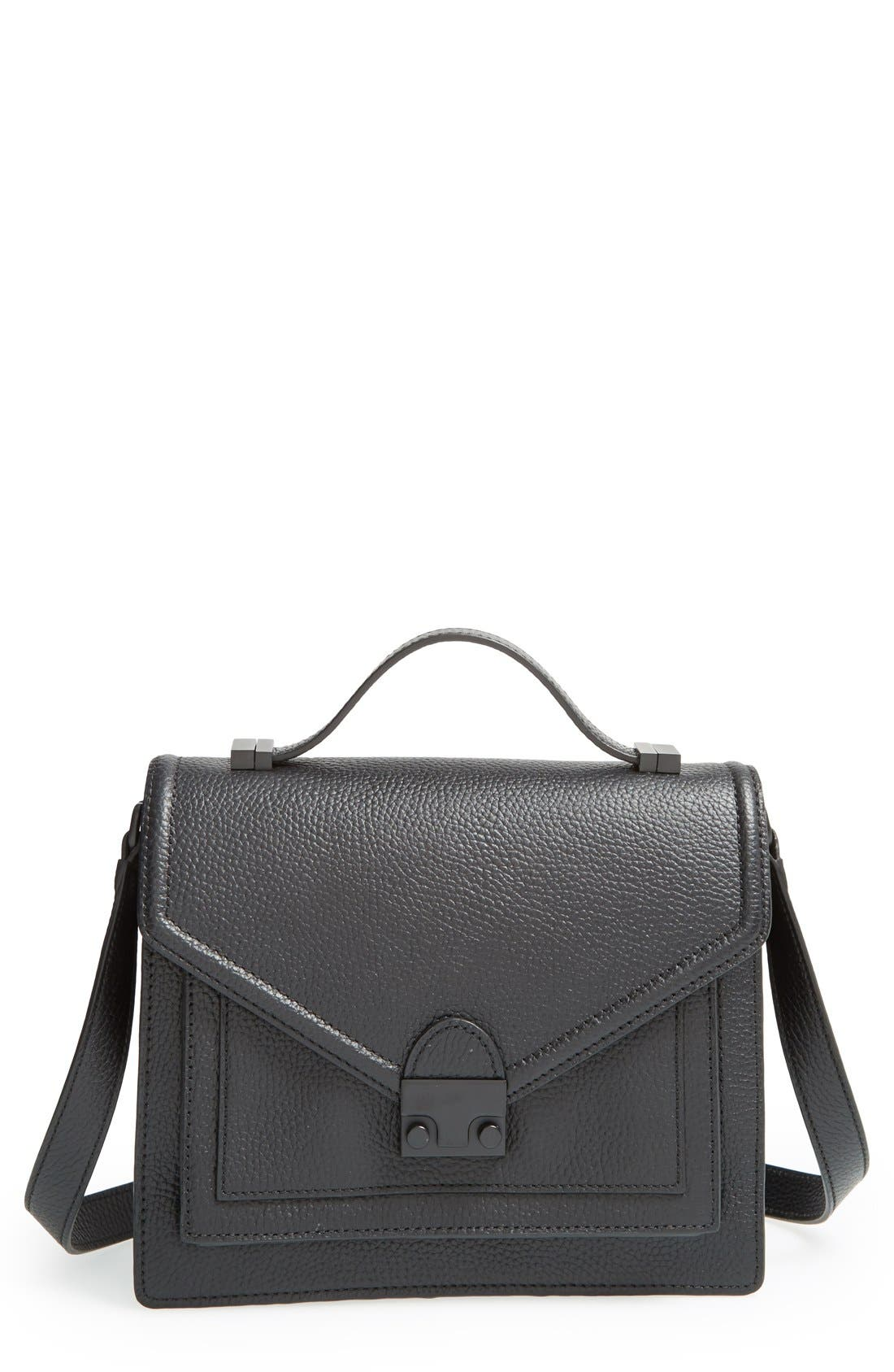 Alternate Image 1 Selected - Loeffler Randall 'Medium Rider' Leather Top Handle Satchel