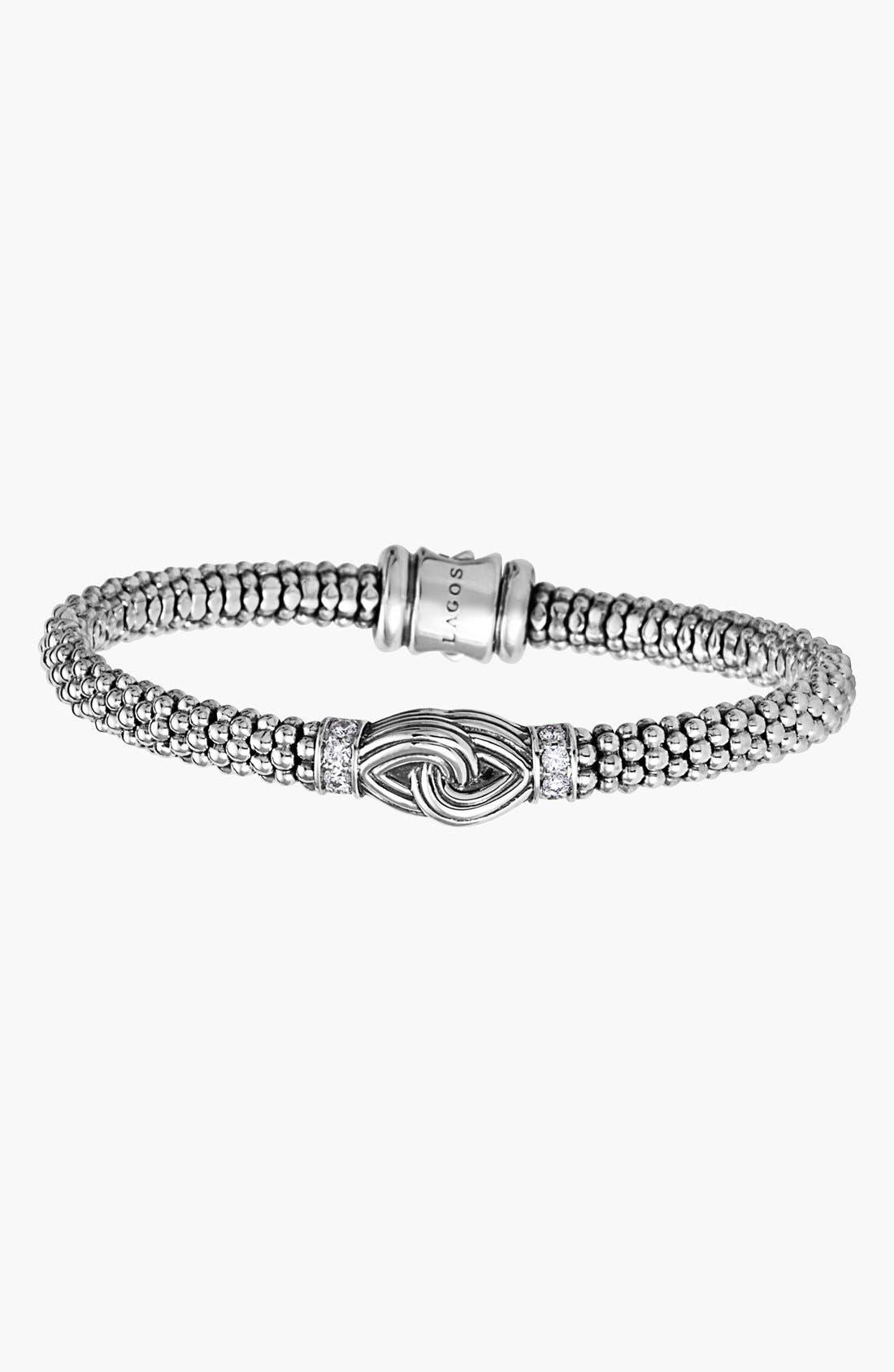 Alternate Image 3  - LAGOS 'Silver Knot' Diamond & Caviar Station Bracelet (Nordstrom Online Exclusive)