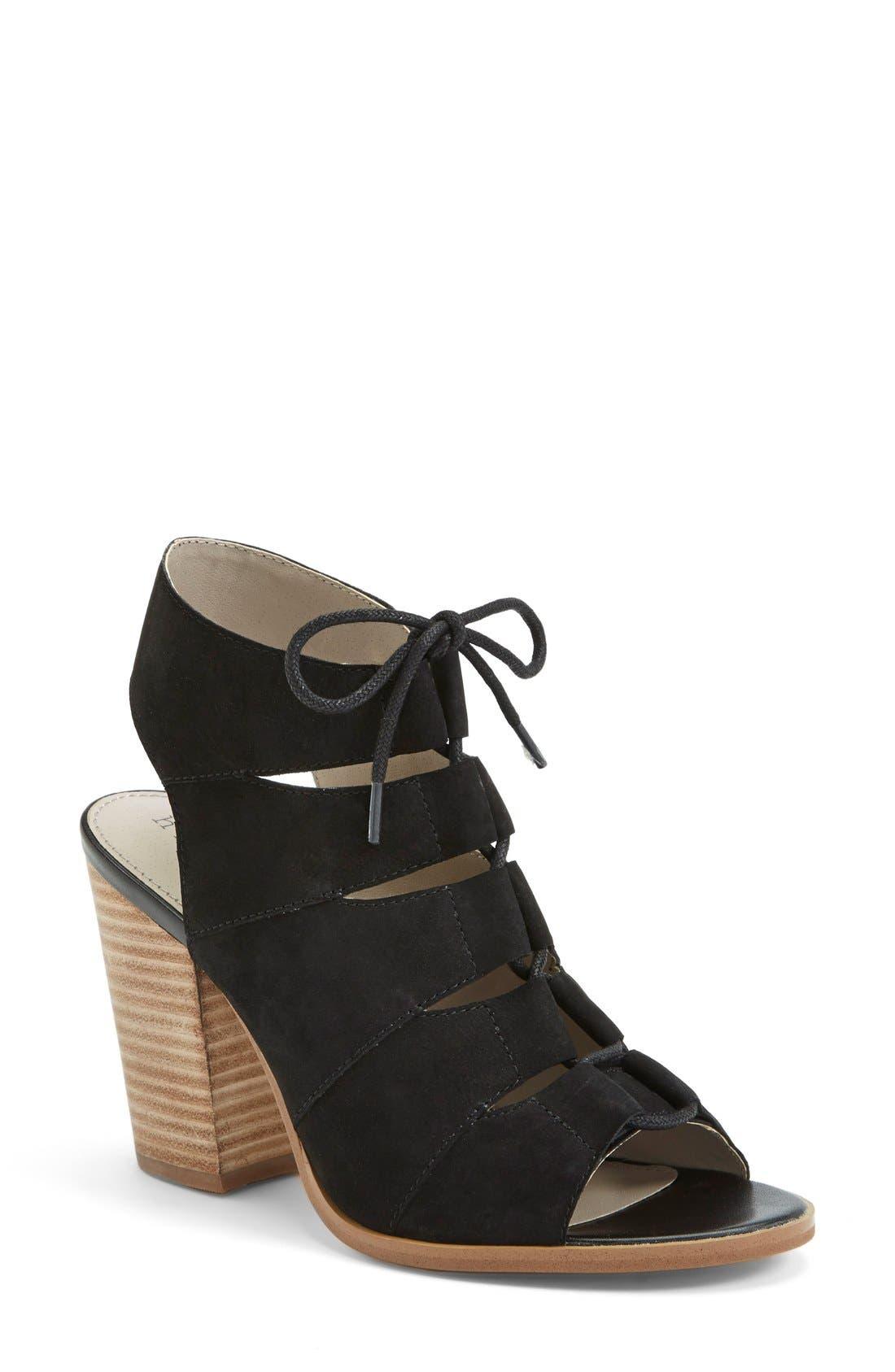 Alternate Image 1 Selected - Hinge 'Drea' Peep Toe Leather Sandal (Women)
