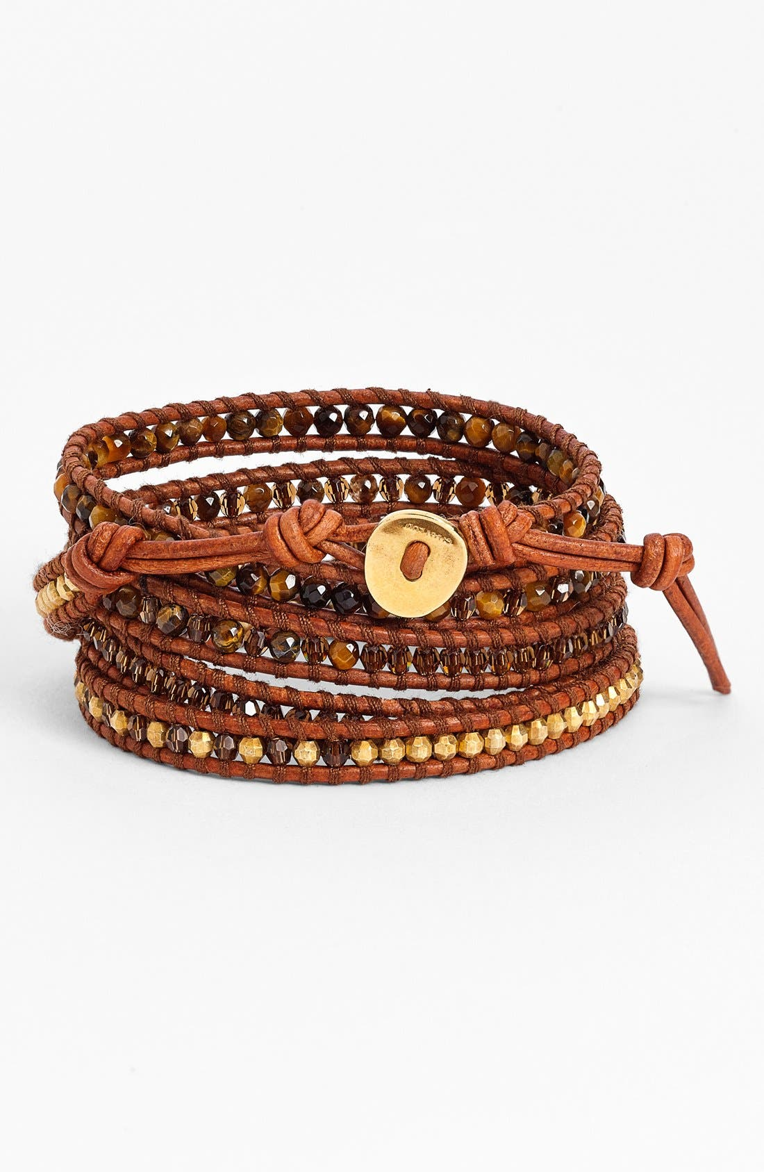 Alternate Image 1 Selected - Chan Luu Beaded Leather Wrap Bracelet