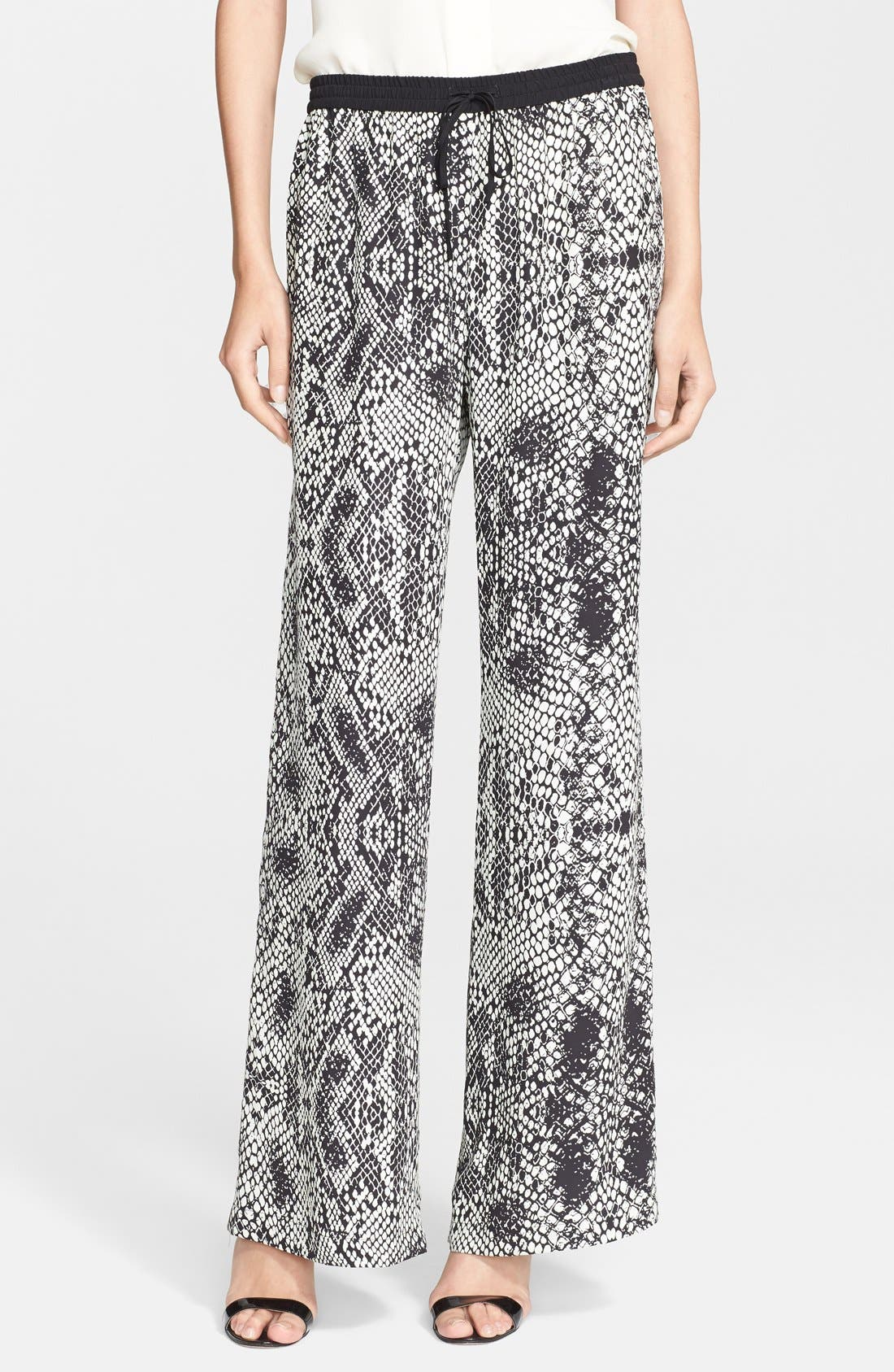 Main Image - Parker 'Nile' Print Wide Leg Silk Pants