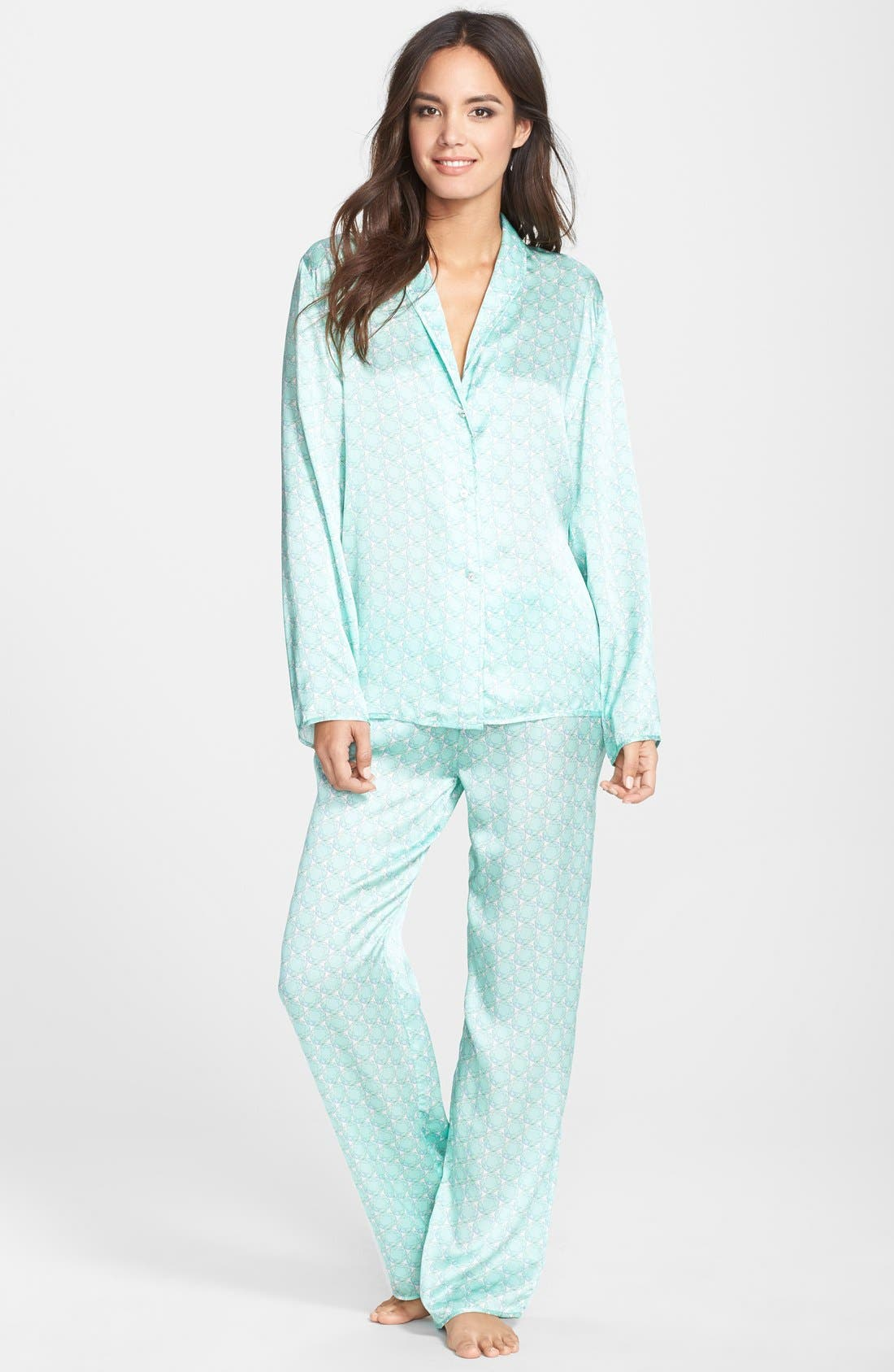 Alternate Image 3  - Beautiful Bottoms London 'Panama' Satin Pajama Pants