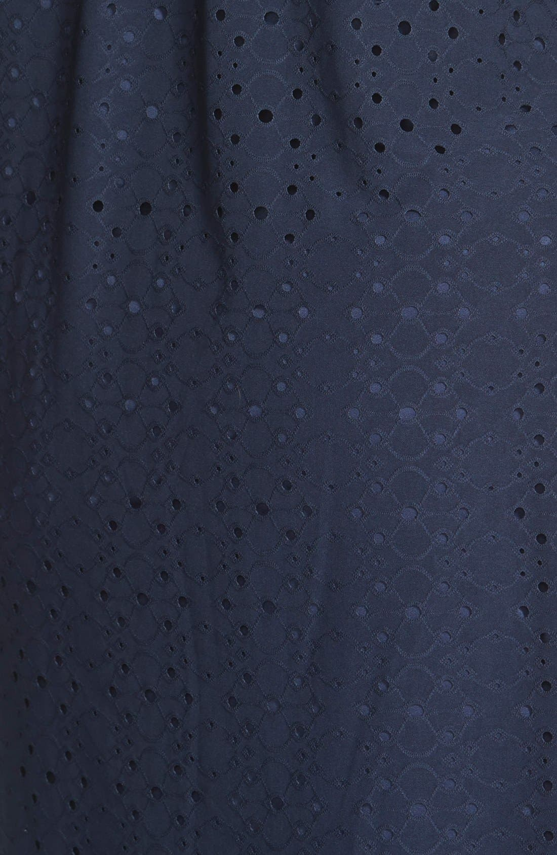 Alternate Image 3  - London Times Keyhole Detail Eyelet Shift Dress (Plus Size)