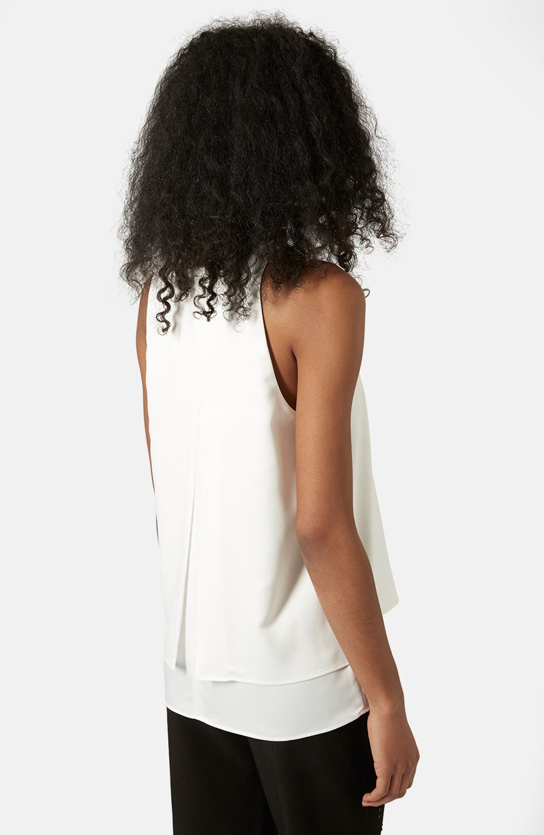Alternate Image 2  - Topshop 'Nord Lily' Layered Split Back Tank