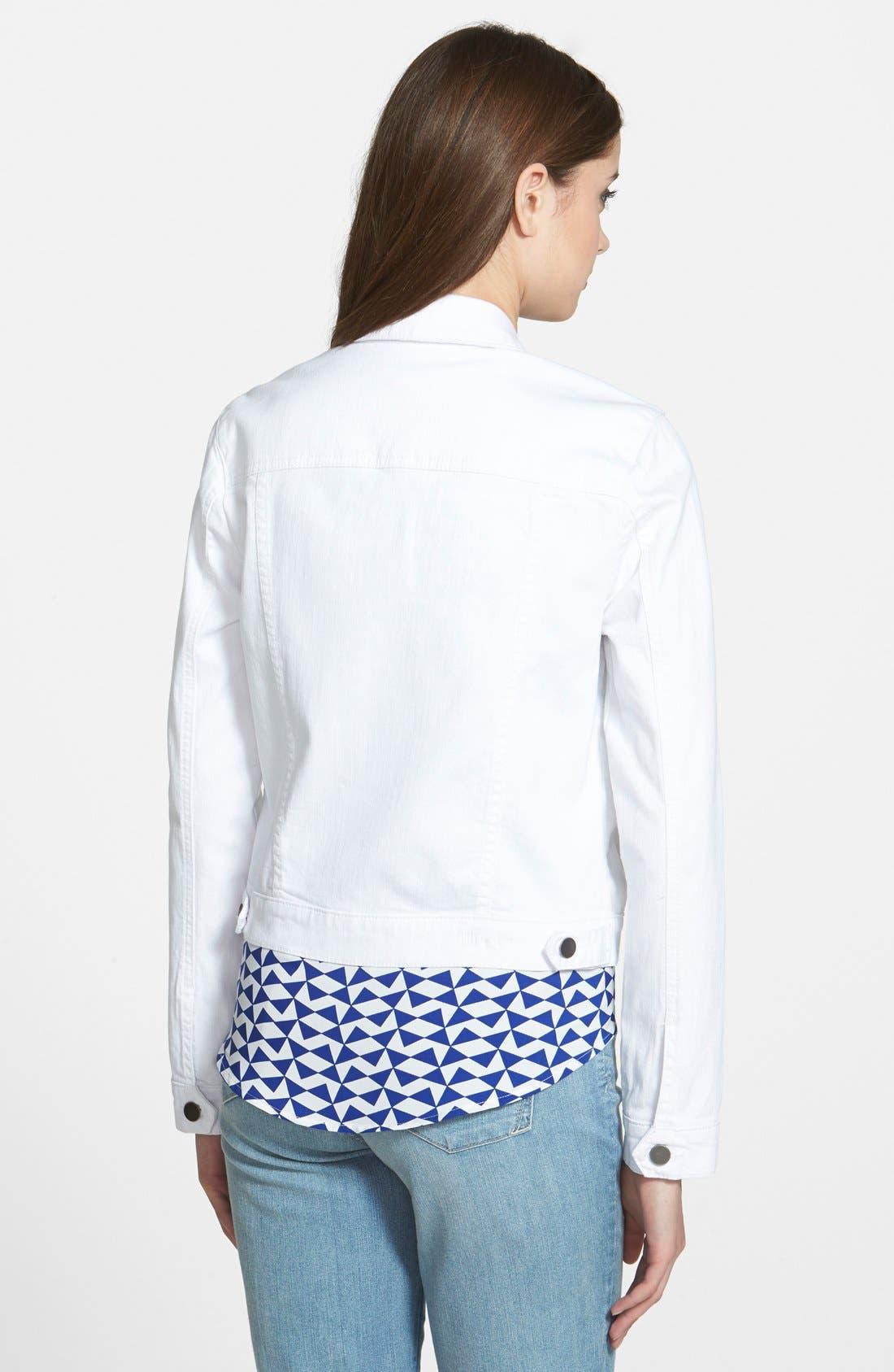 Alternate Image 2  - KUT from the Kloth 'Helena' Denim Jacket (Regular & Petite)