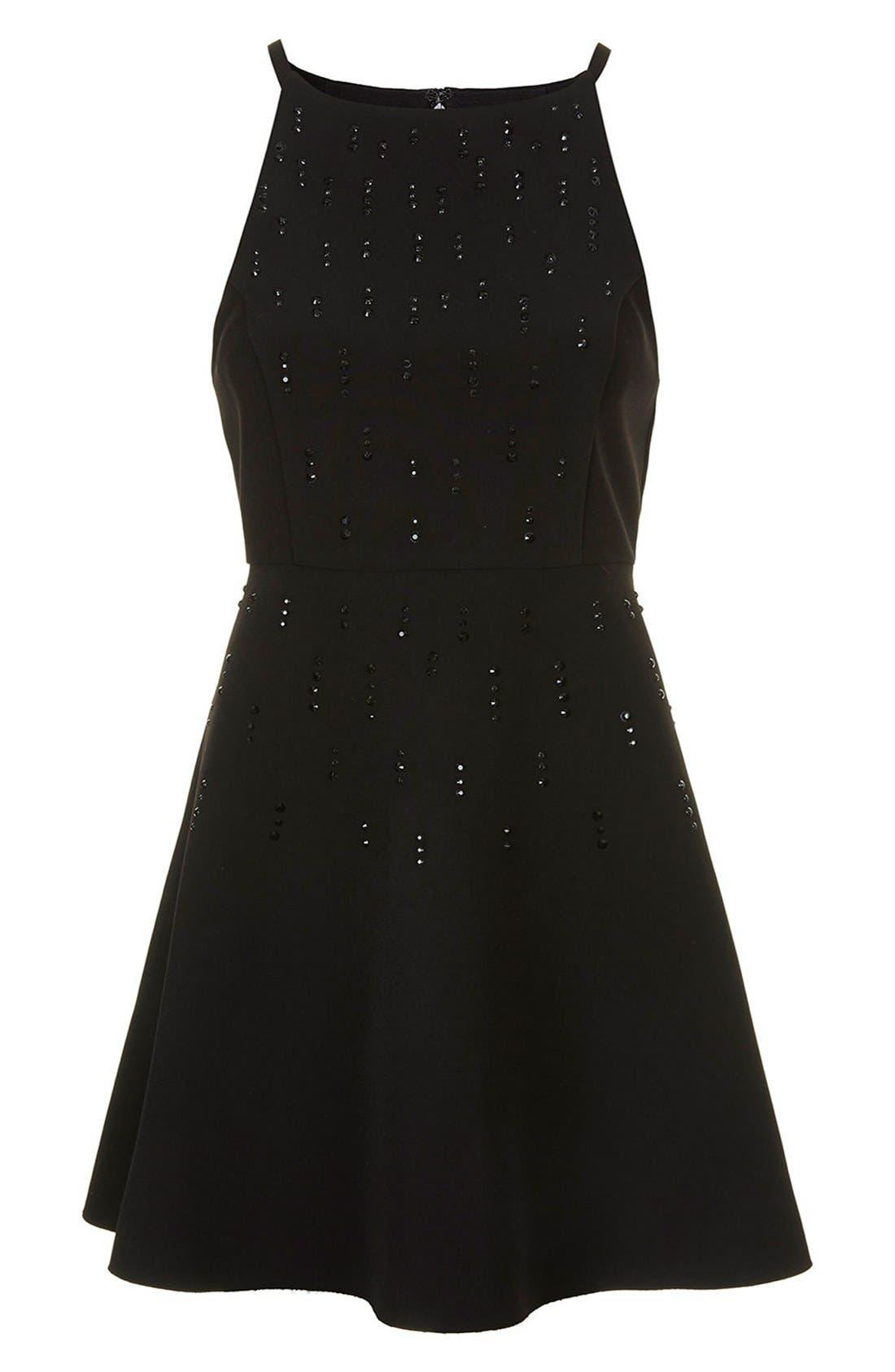 Alternate Image 3  - Topshop Embellished Skater Dress
