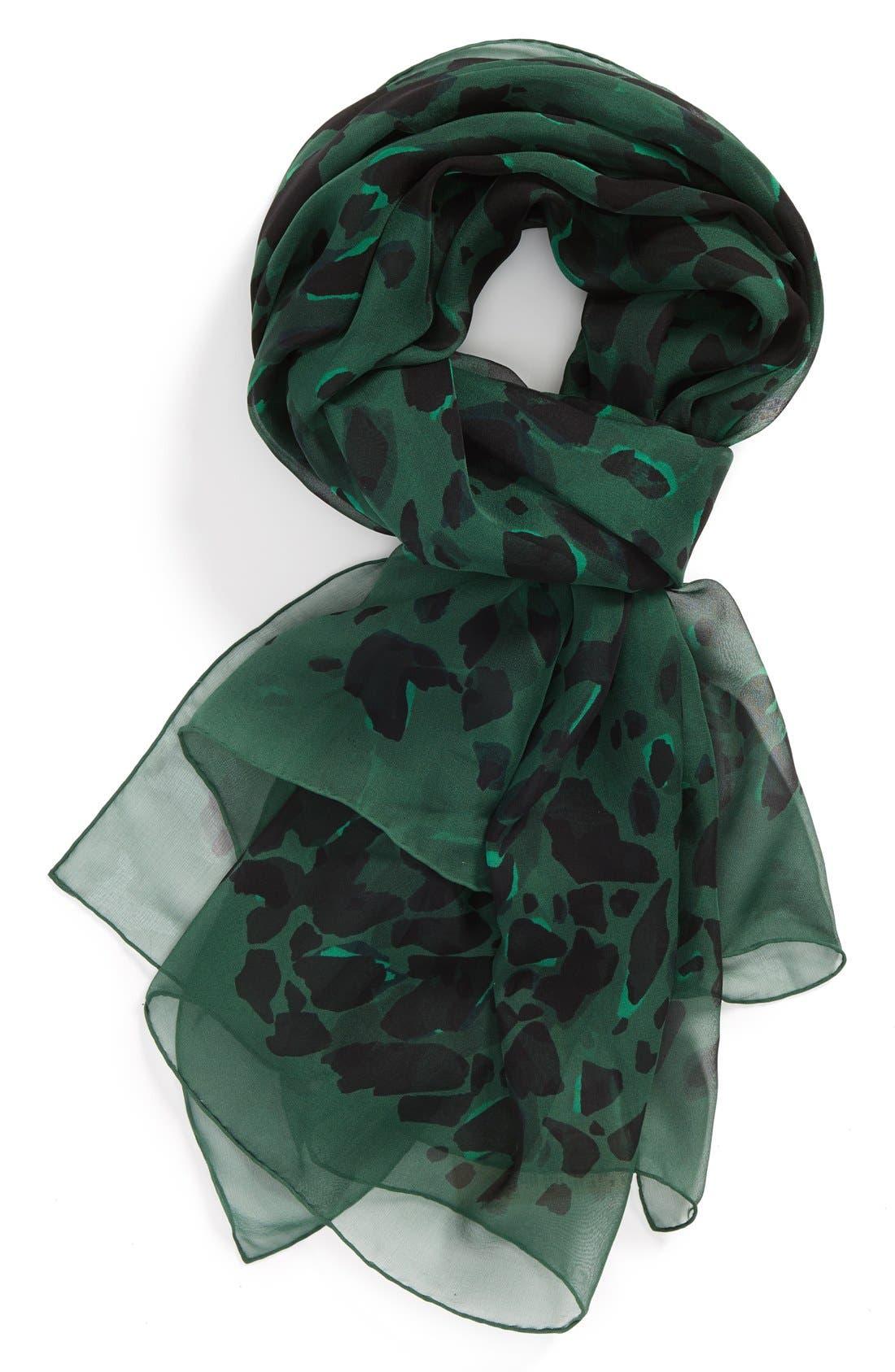 Main Image - Burberry Animal Print Silk Georgette Scarf