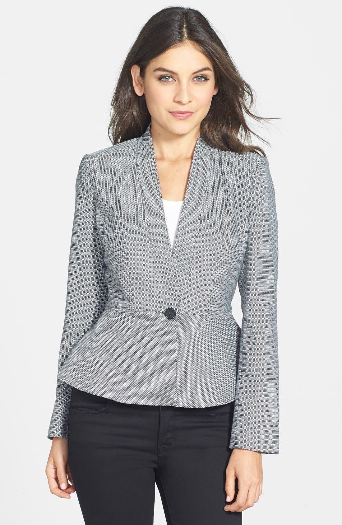 Alternate Image 1 Selected - Halogen® One-Button Peplum Jacket (Regular & Petite)