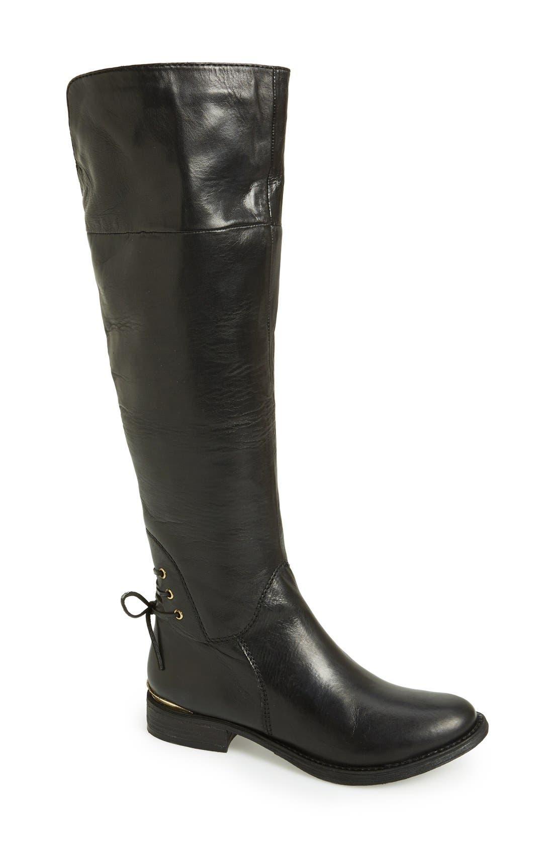 Main Image - Steve Madden 'Nerves' Over the Knee Leather Boot (Women)