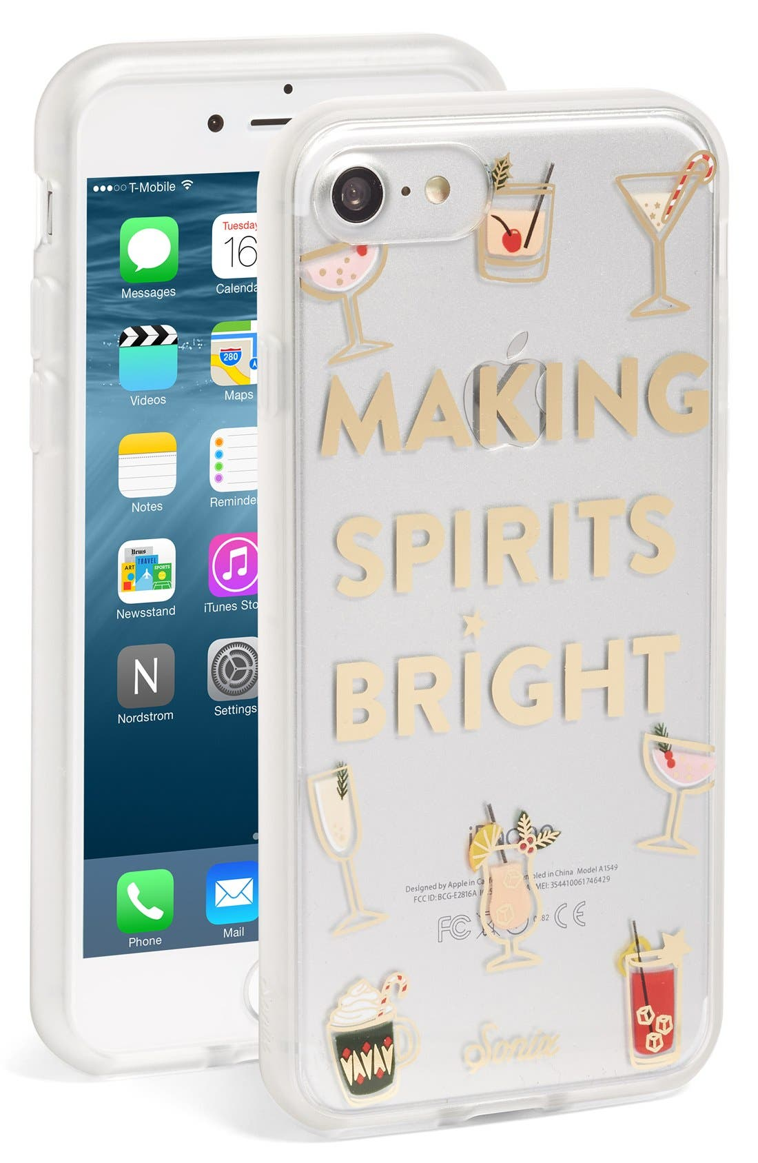 Alternate Image 1 Selected - Sonix Making Spirits Bright iPhone Case (7 & 7 Plus)