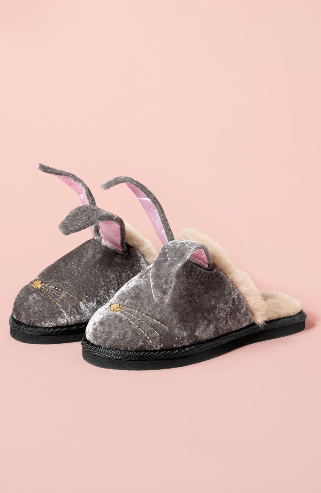 Alternate Image 5  - kate spade new york 'bonnie - bunny' velvet slipper (Women)