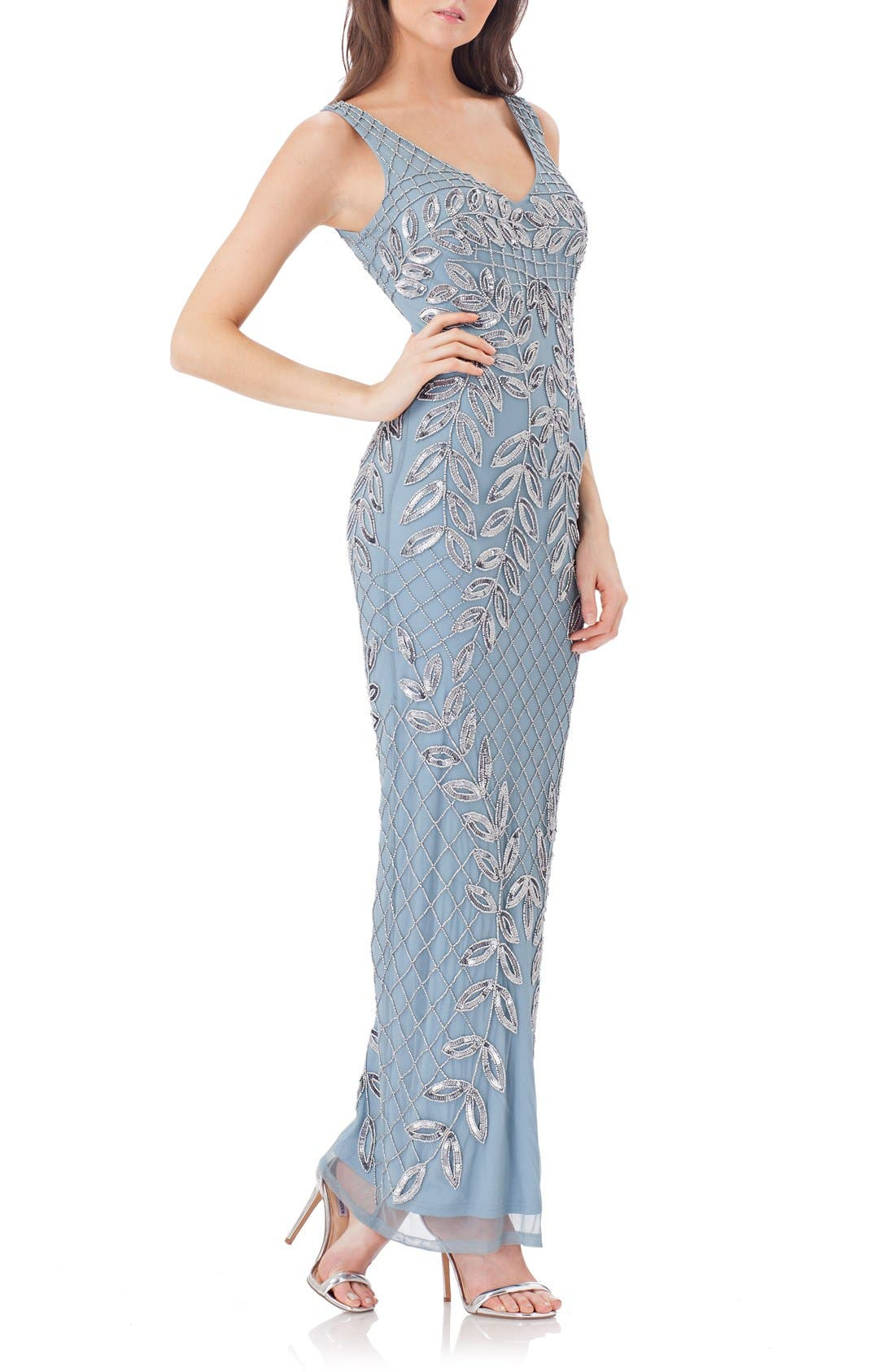 Alternate Image 1 Selected - JS Collections Embellished Column Gown