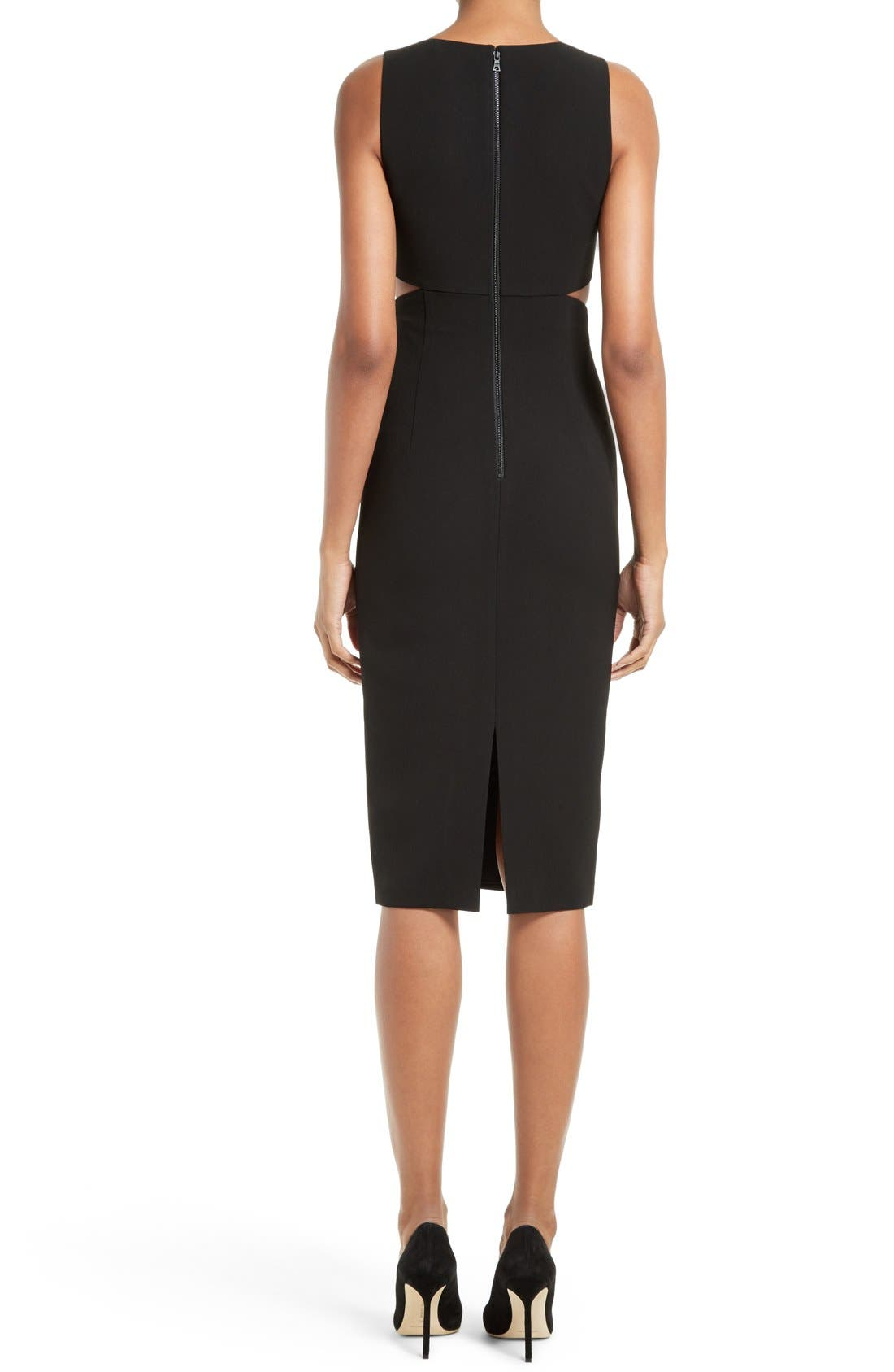 Alternate Image 2  - Alice + Olivia Riki Cutout Sheath Dress