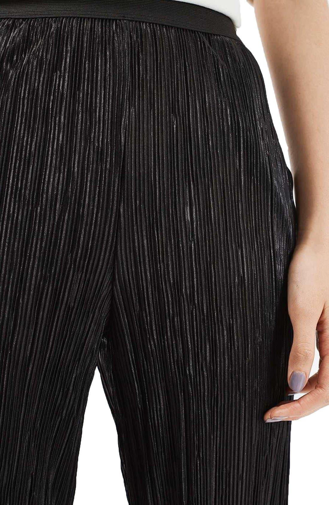 Alternate Image 5  - Topshop Plissé Trousers