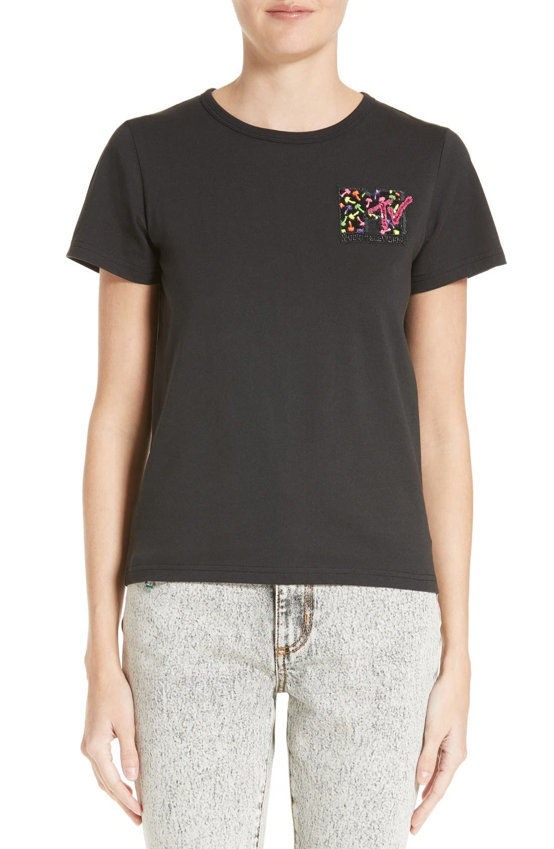 MARC JACOBS x MTV Embroidered Logo Tee