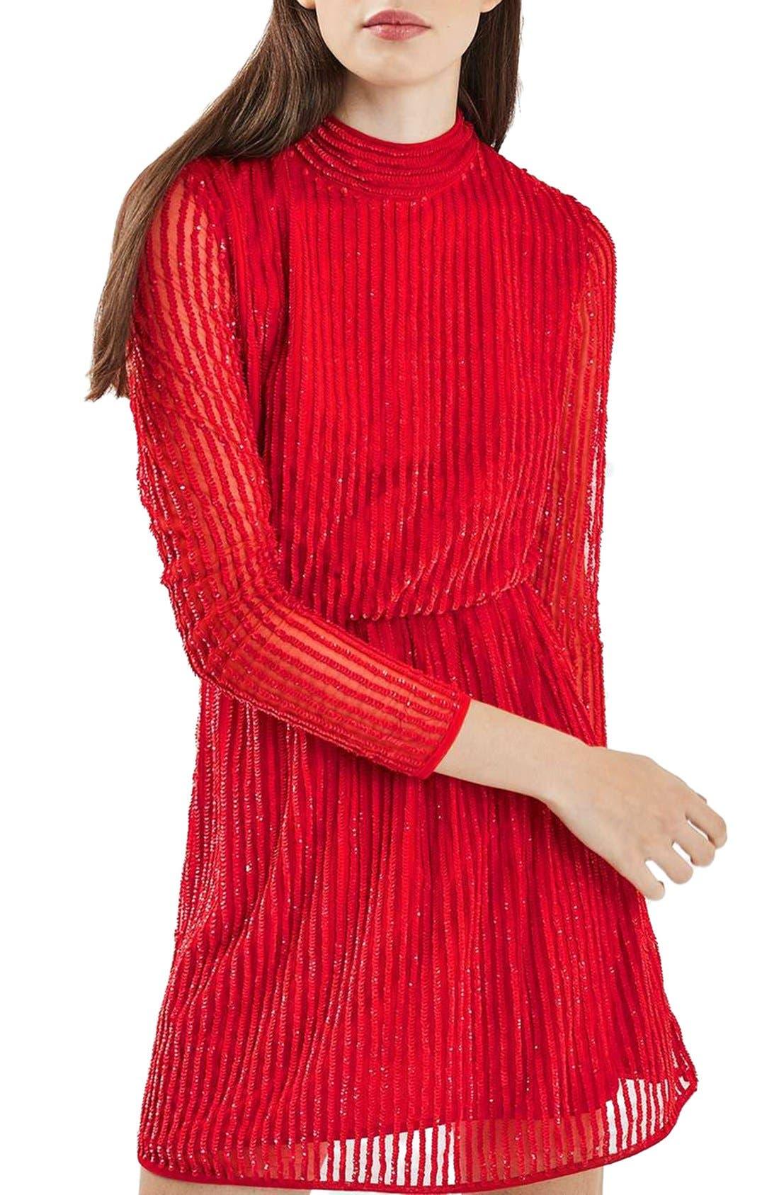 Alternate Image 5  - Topshop Sequin Blouson Dress