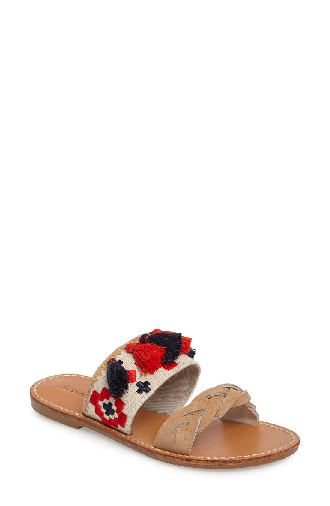 Alternate Image 1 Selected - Soludus Embroidered Slide Sandal (Women)