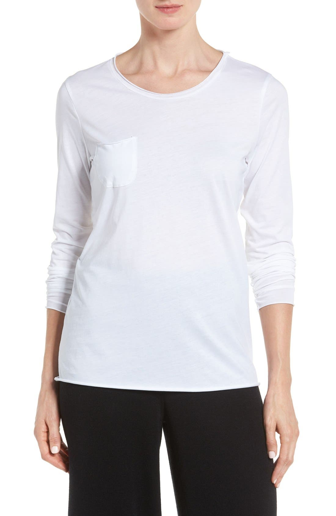 Main Image - Eileen Fisher Organic Cotton Jersey Top