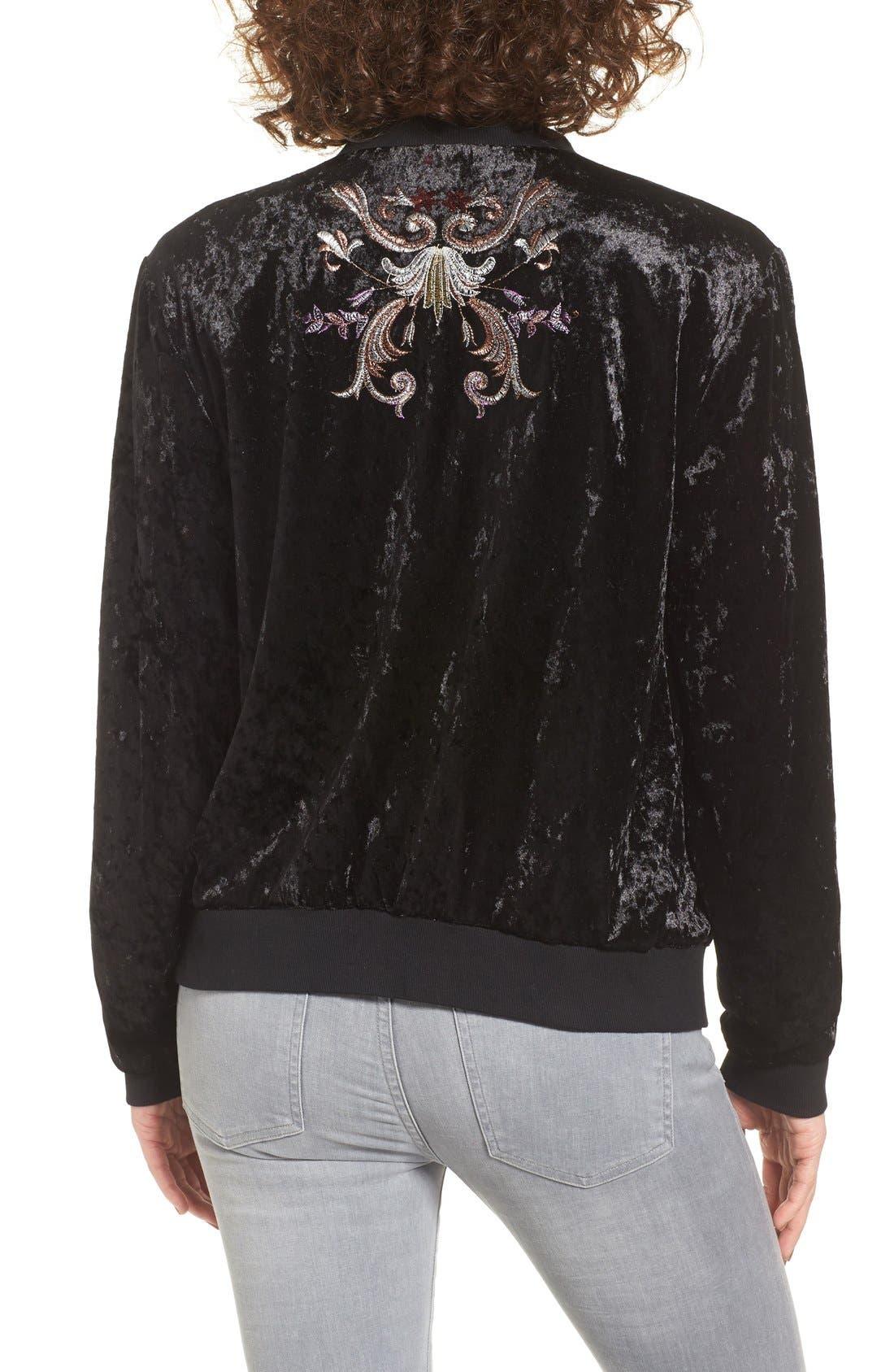 Alternate Image 2  - Somedays Lovin Erin Embellished Velvet Bomber Jacket