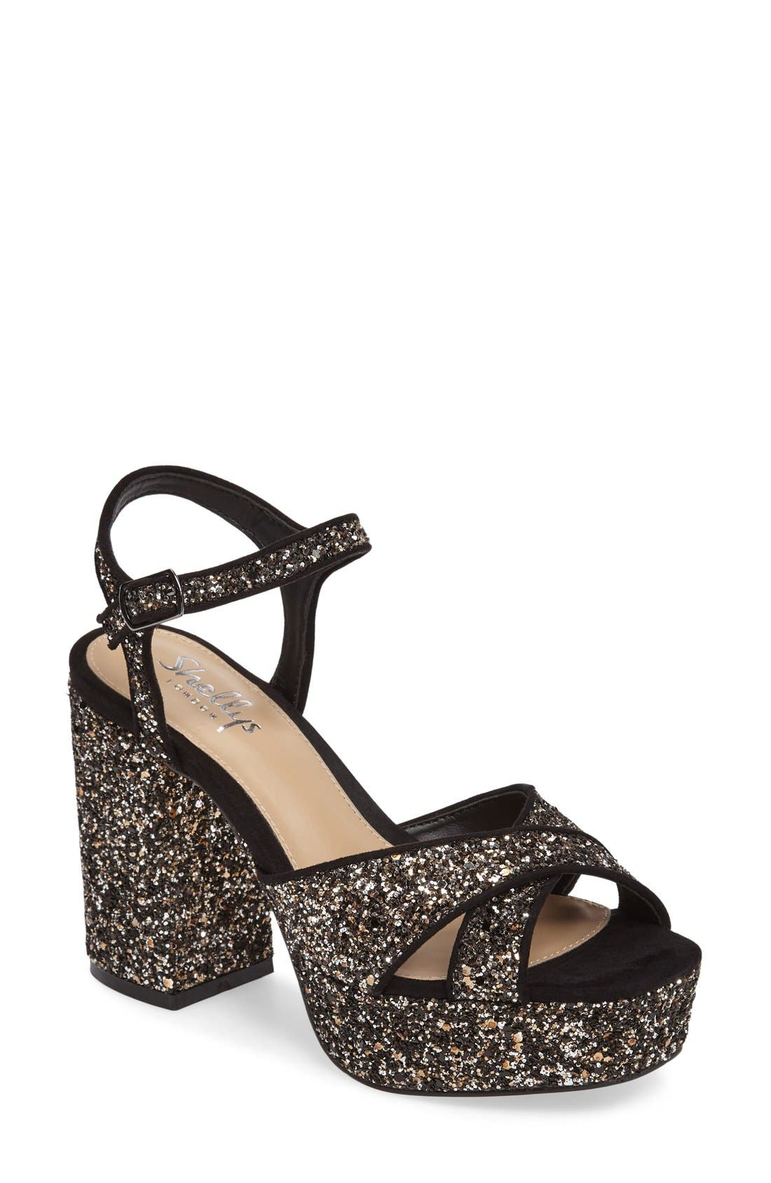 Shellys London Annie Embellished Platform Sandal (Women)