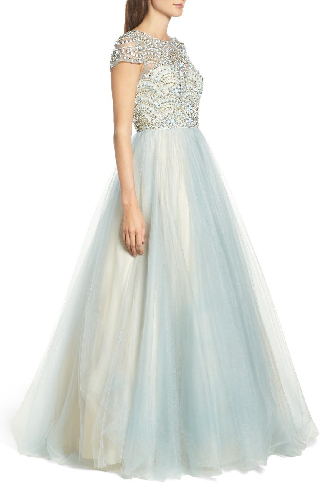 Alternate Image 3  - Mac Duggal Beaded Bodice Tulle Ballgown