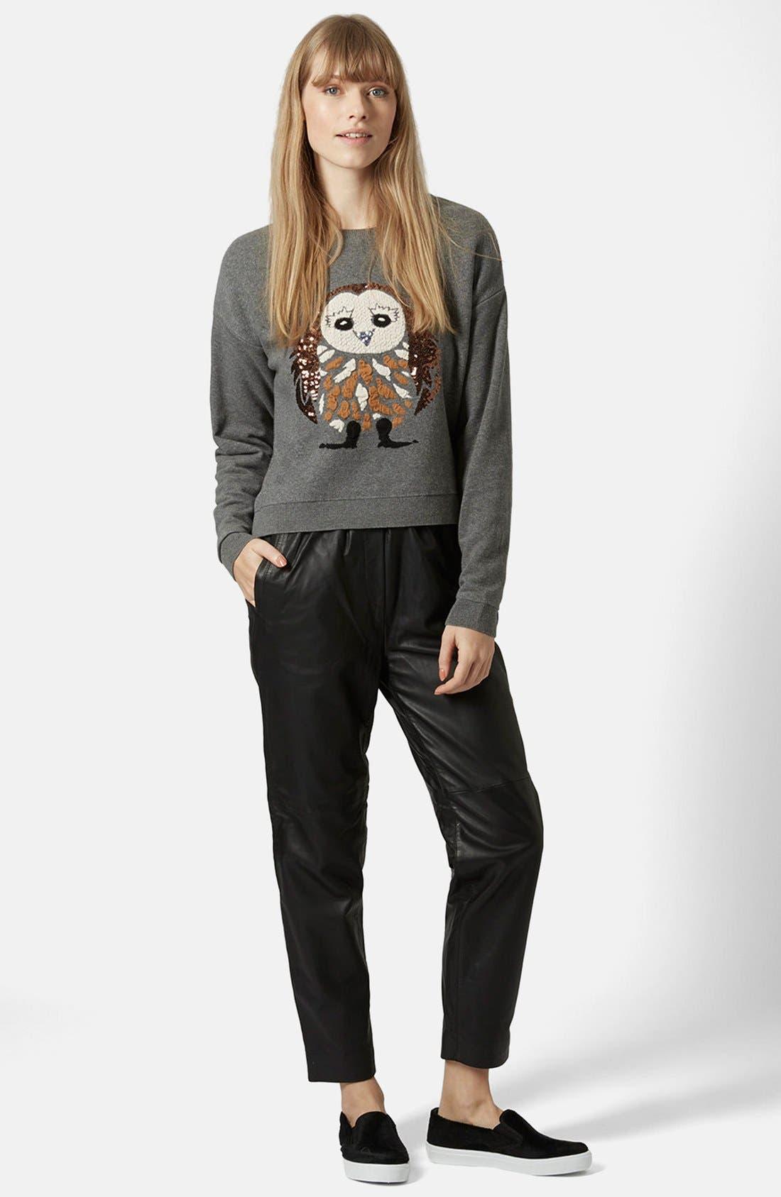 Alternate Image 4  - Topshop Sequin Owl Sweater