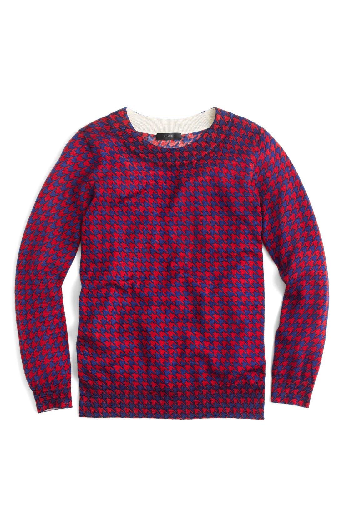 Alternate Image 3  - J.Crew Tippi Houndstooth Sweater