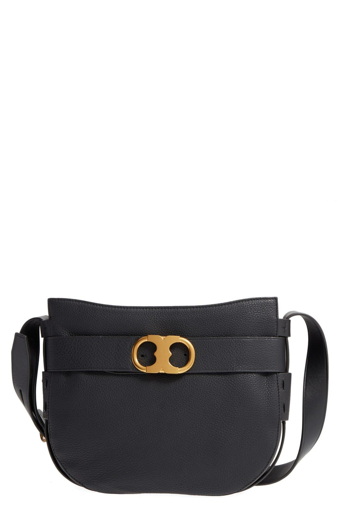 Tory Burch Small Gemini Belted Leather Hobo