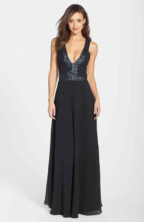 Dress the Population Delani Crepe Gown