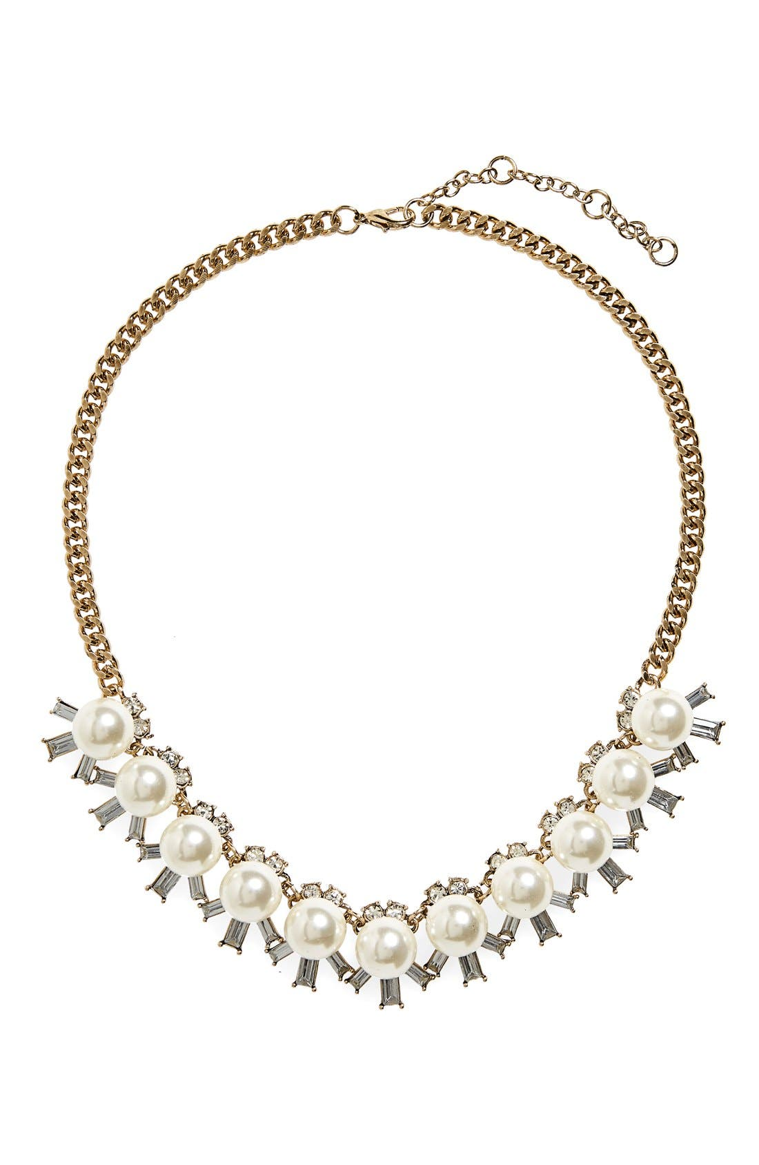 Alternate Image 1 Selected - BP. Faux Pearl & Crystal Necklace