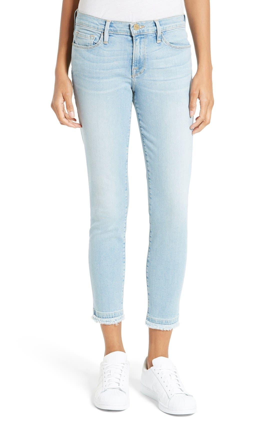 FRAME Le Skinny de Jeanne Raw Hem Crop Jeans (Jerome) (Nordstrom Exclusive)