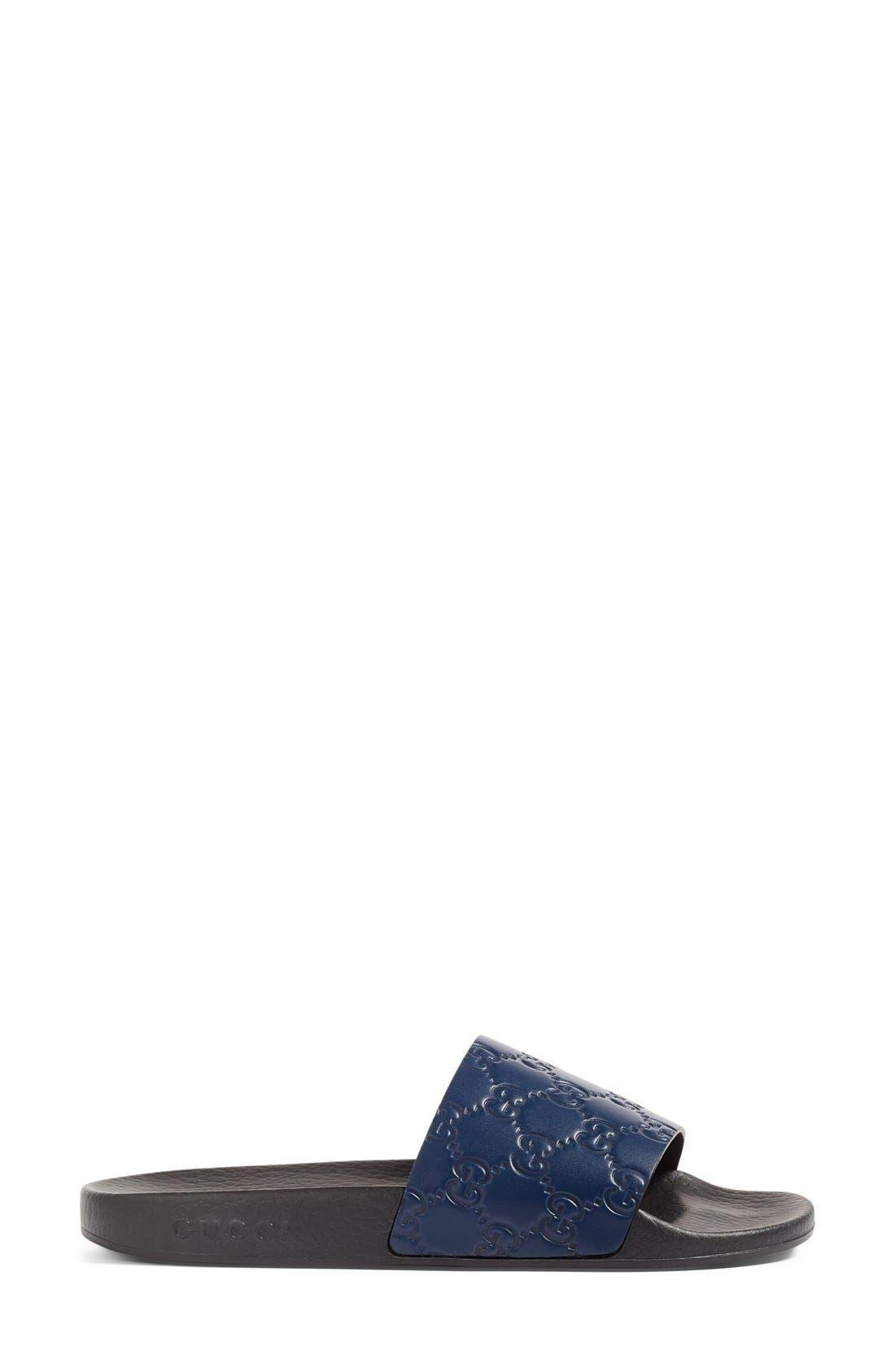 Alternate Image 4  - Gucci Pursuit Logo Slide Sandal (Women)