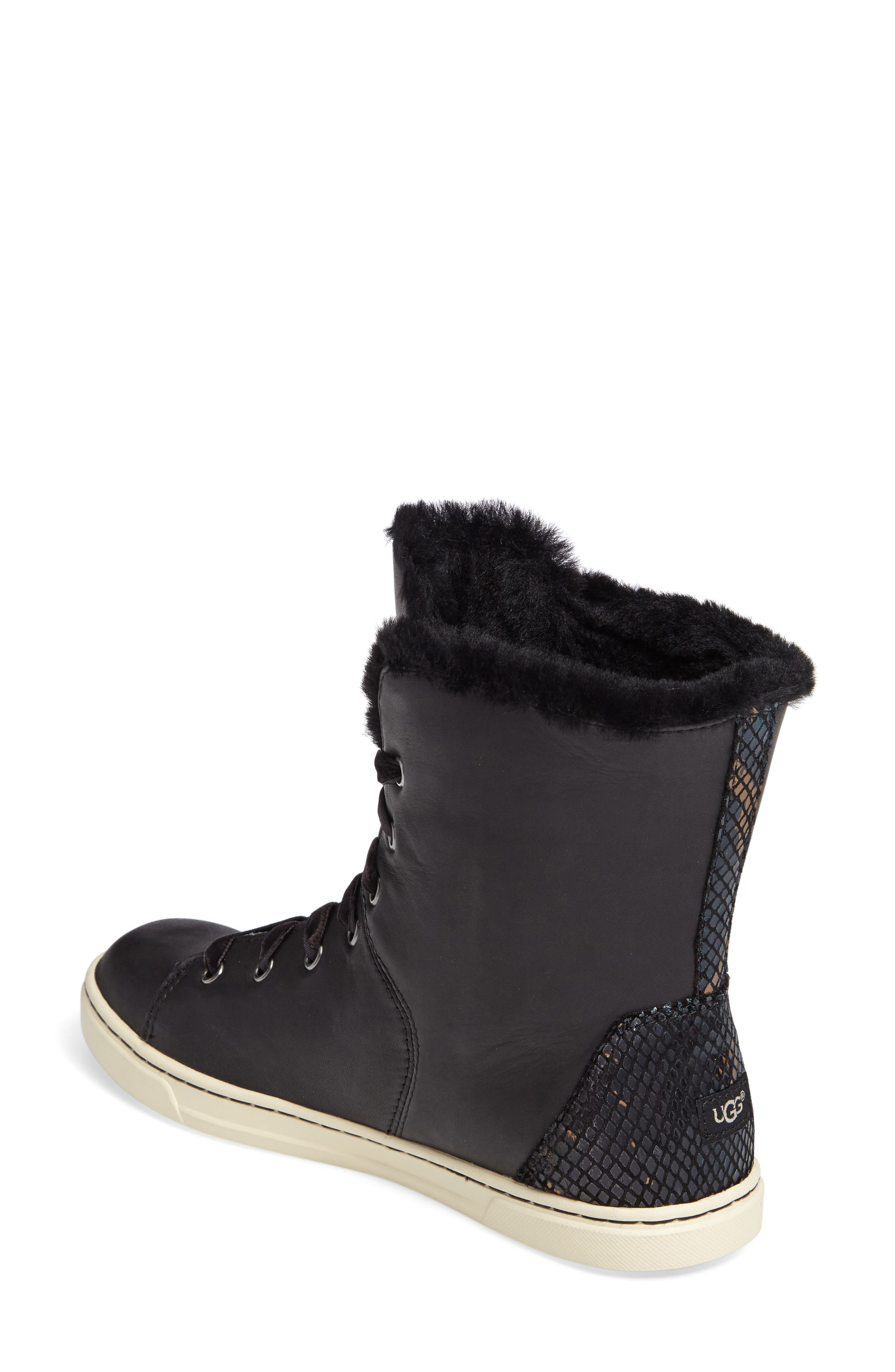 Alternate Image 2  - UGG® Croft Exotic Velvet Sneaker