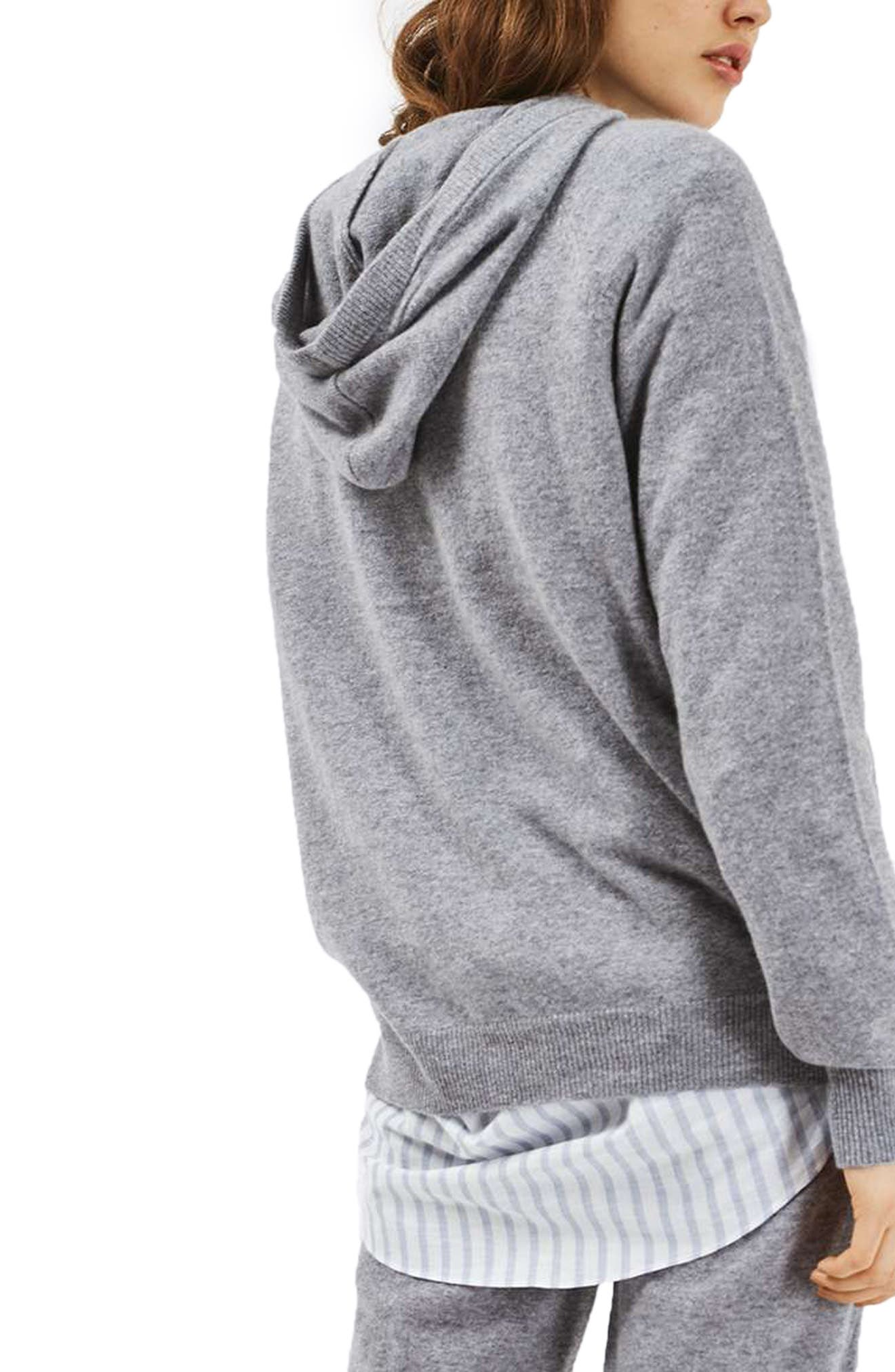 Alternate Image 3  - Topshop Luxe Cashmere Hoodie