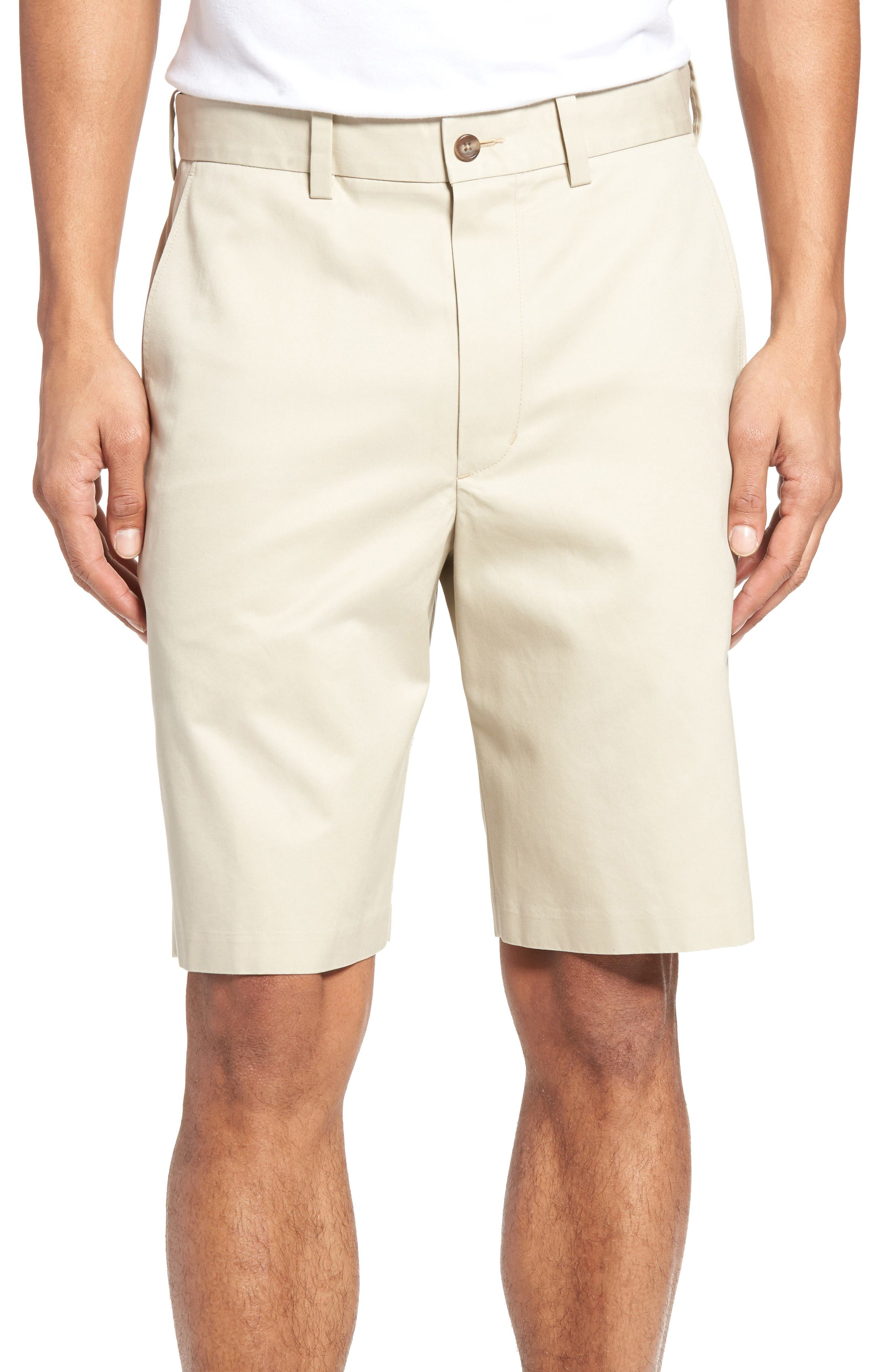 NORDSTROM MEN'S SHOP Flat Front Supima® Cotton Shorts