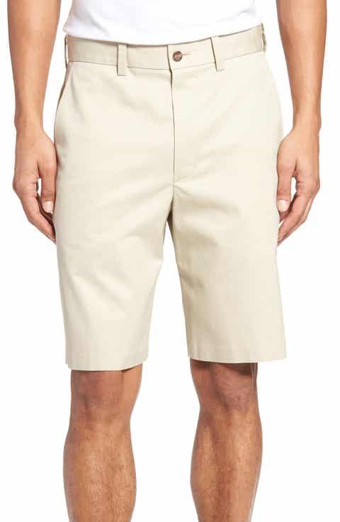 Nordstrom Men's Shop Flat Front Supima® Cotton Shorts