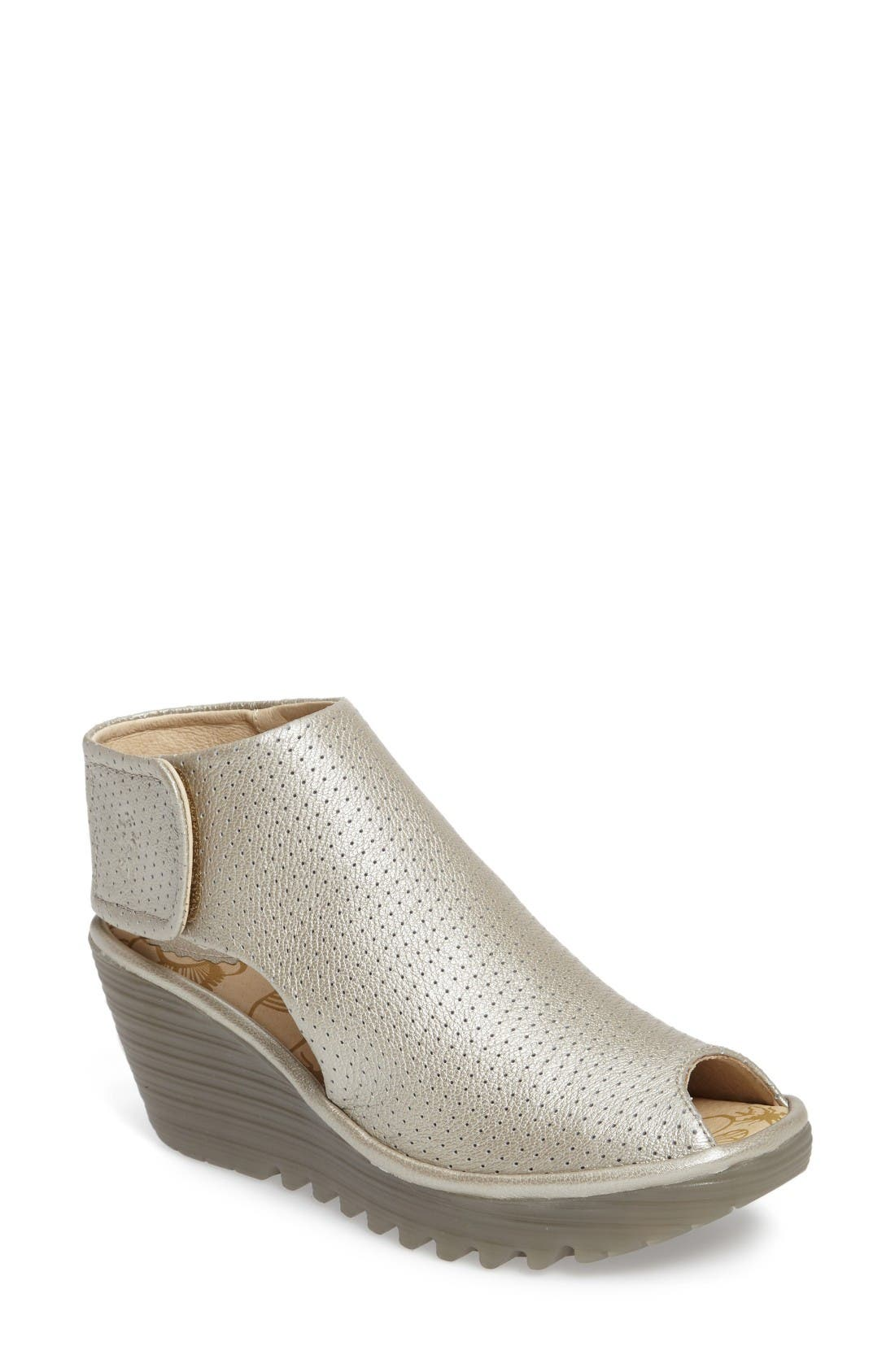 Alternate Image 1 Selected - Fly London Yahl Open Toe Platform Wedge (Women)